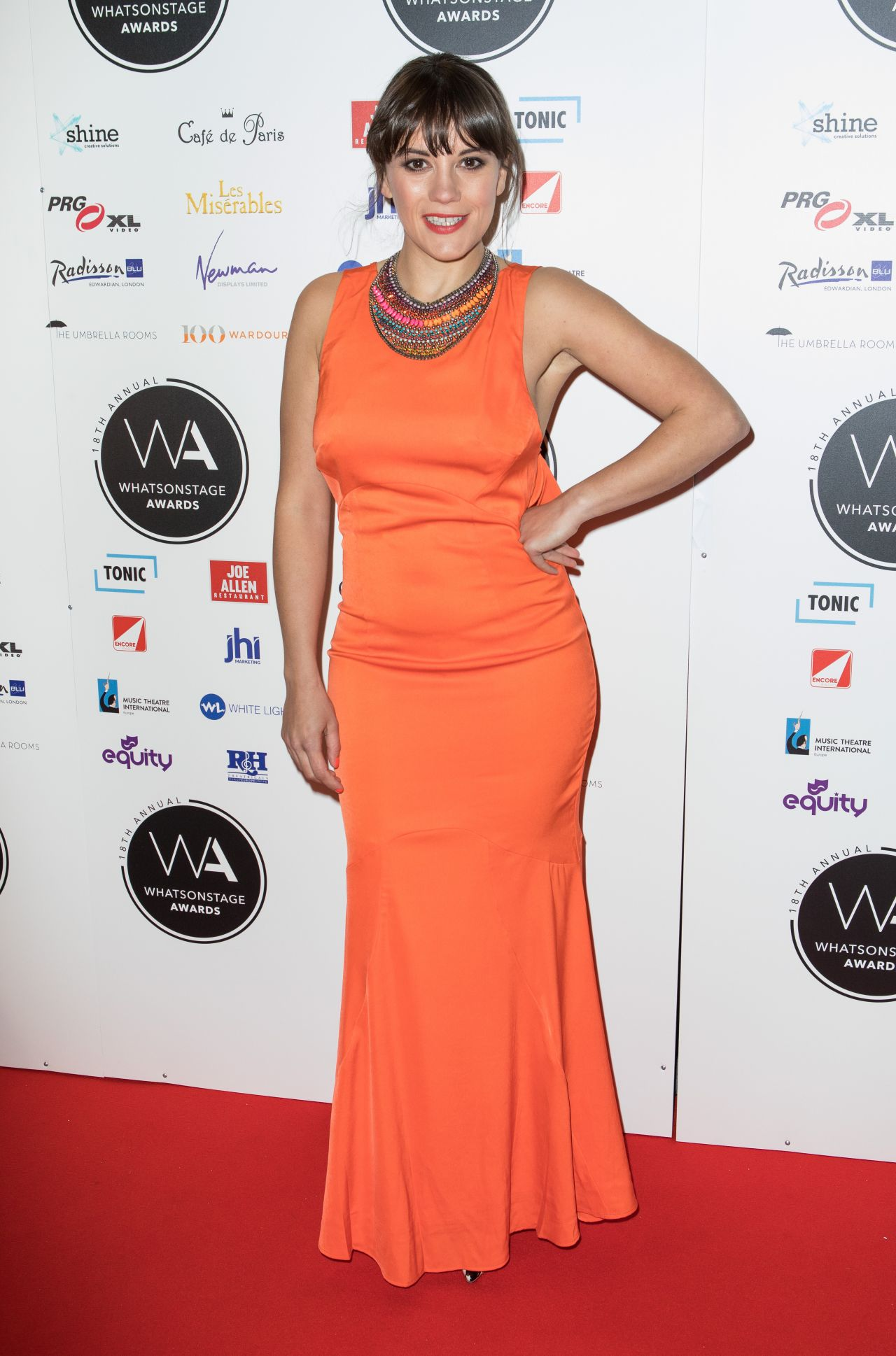 Vikki Stone Whatsonstage Awards Red Carpet