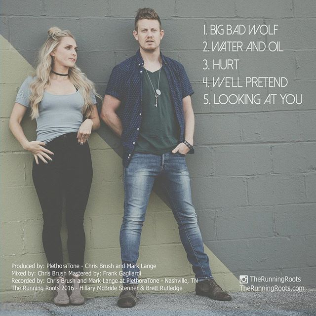 Hurt EP out tomorrow Feb. 2nd!!! Here's the back cover, some songs you've heard maybe some you haven't.  We've spent a year and a half on this project and we are so proud to release it.  We would love for you to give it a listen and be a part of this journey with us.  #therunningroots #HurtEP @brett_rutledge @mcbridehillary