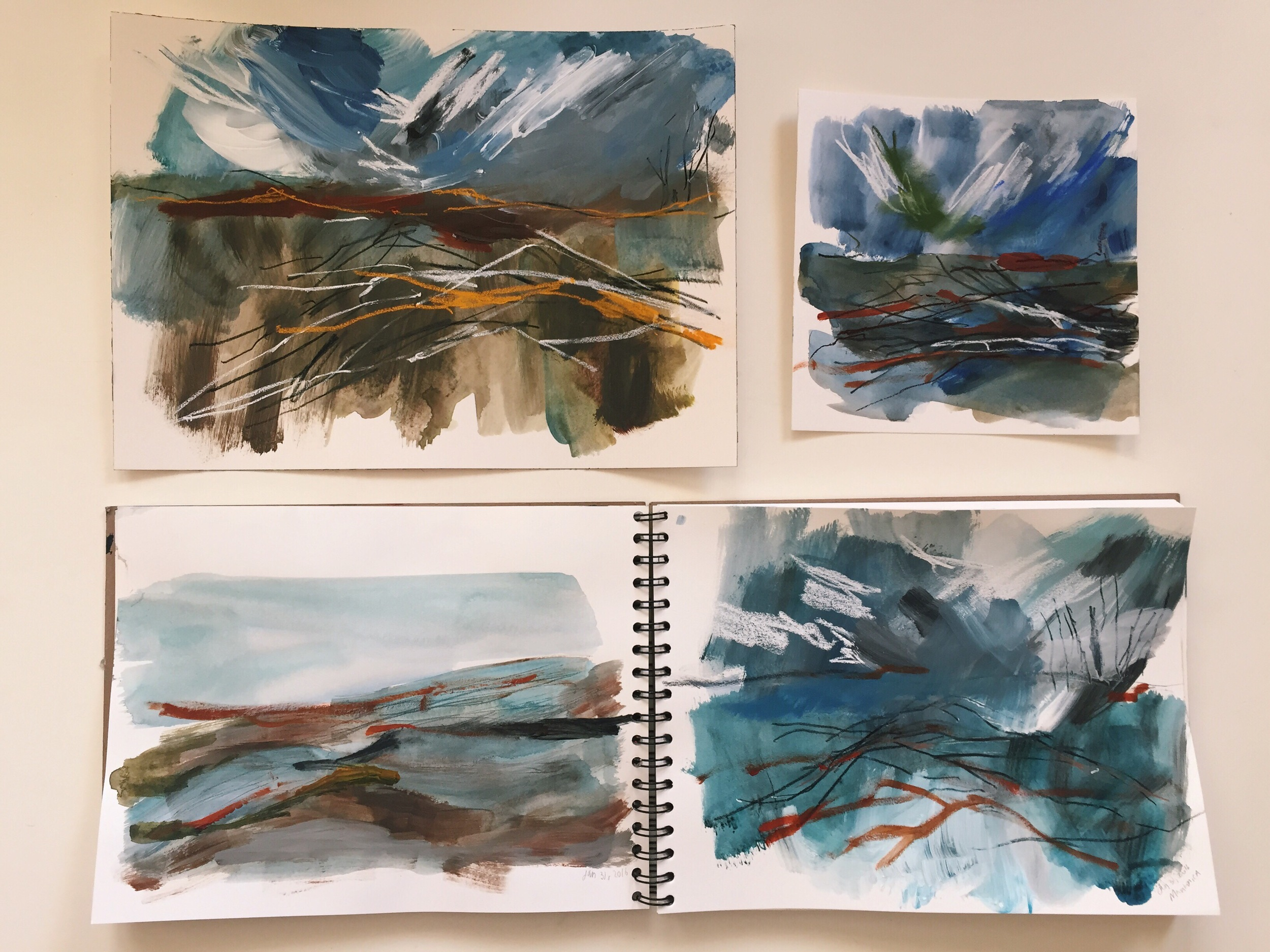 Sketches from Manton, California.