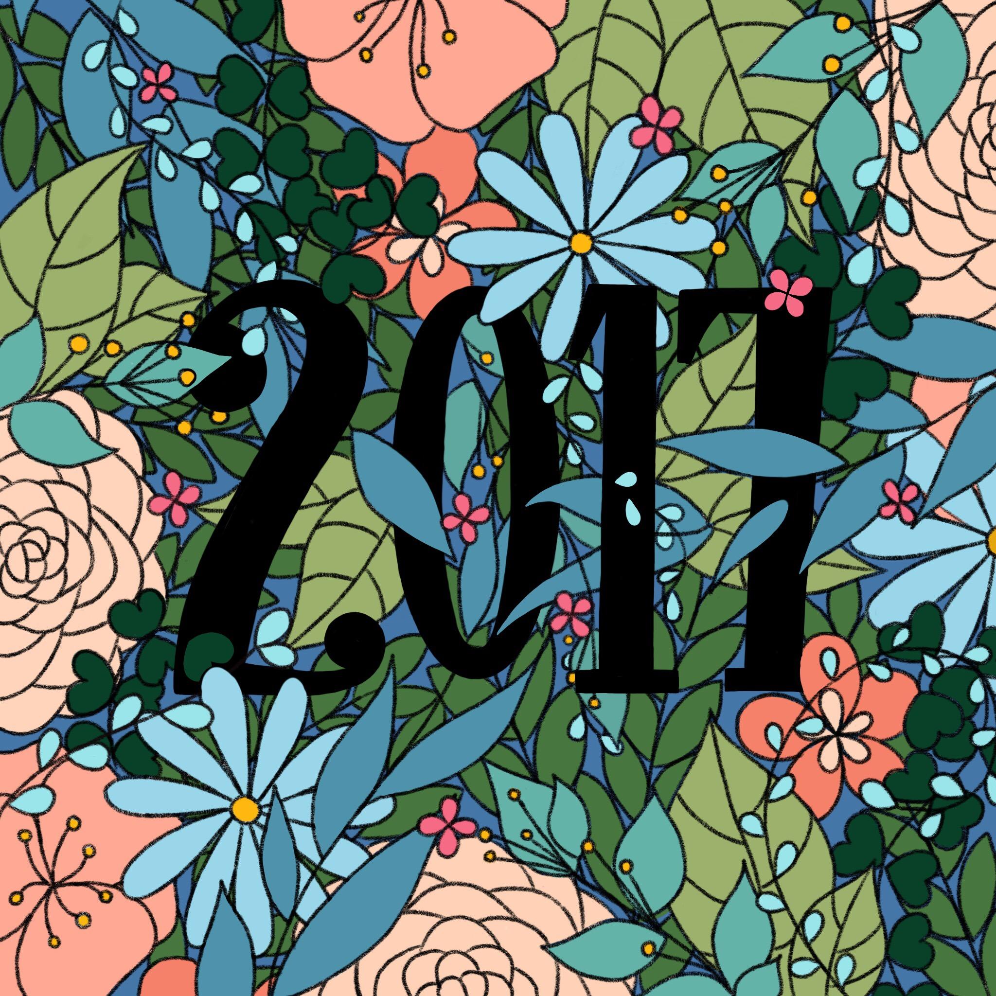 Pingle Pie 2017 Floral Collage, iPad & Apple Pencil
