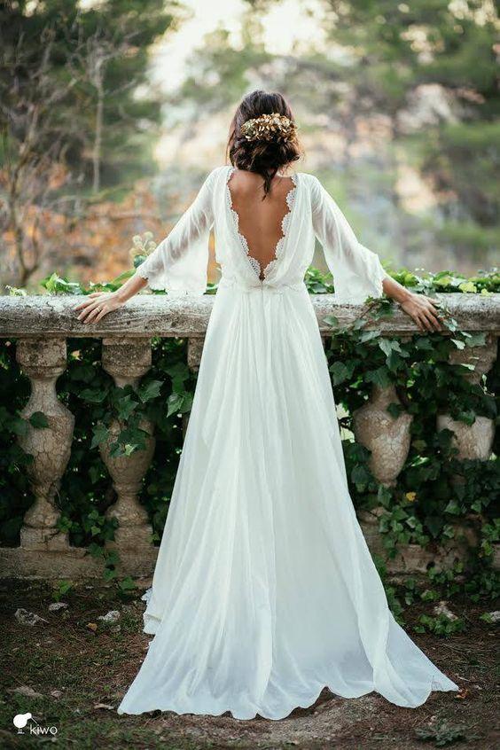 Dress - White Pumpkin Wedding Inspiration, Autumnal Wedding Ideas, Autumn Wedding Style - Pingle Pie.jpg
