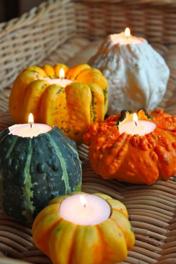 Orange Pumpkin Candles - Pumpkin Wedding Inspiration, Autumnal Wedding Ideas, Autumn Wedding Style - Pingle Pie.jpg