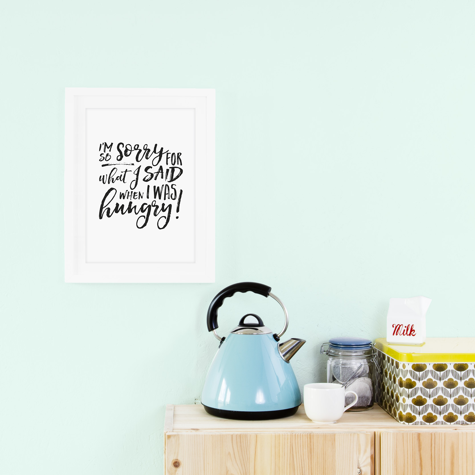 Hangry Kitchen Print, Prints for the Home, Prints For the Kitchen.jpg
