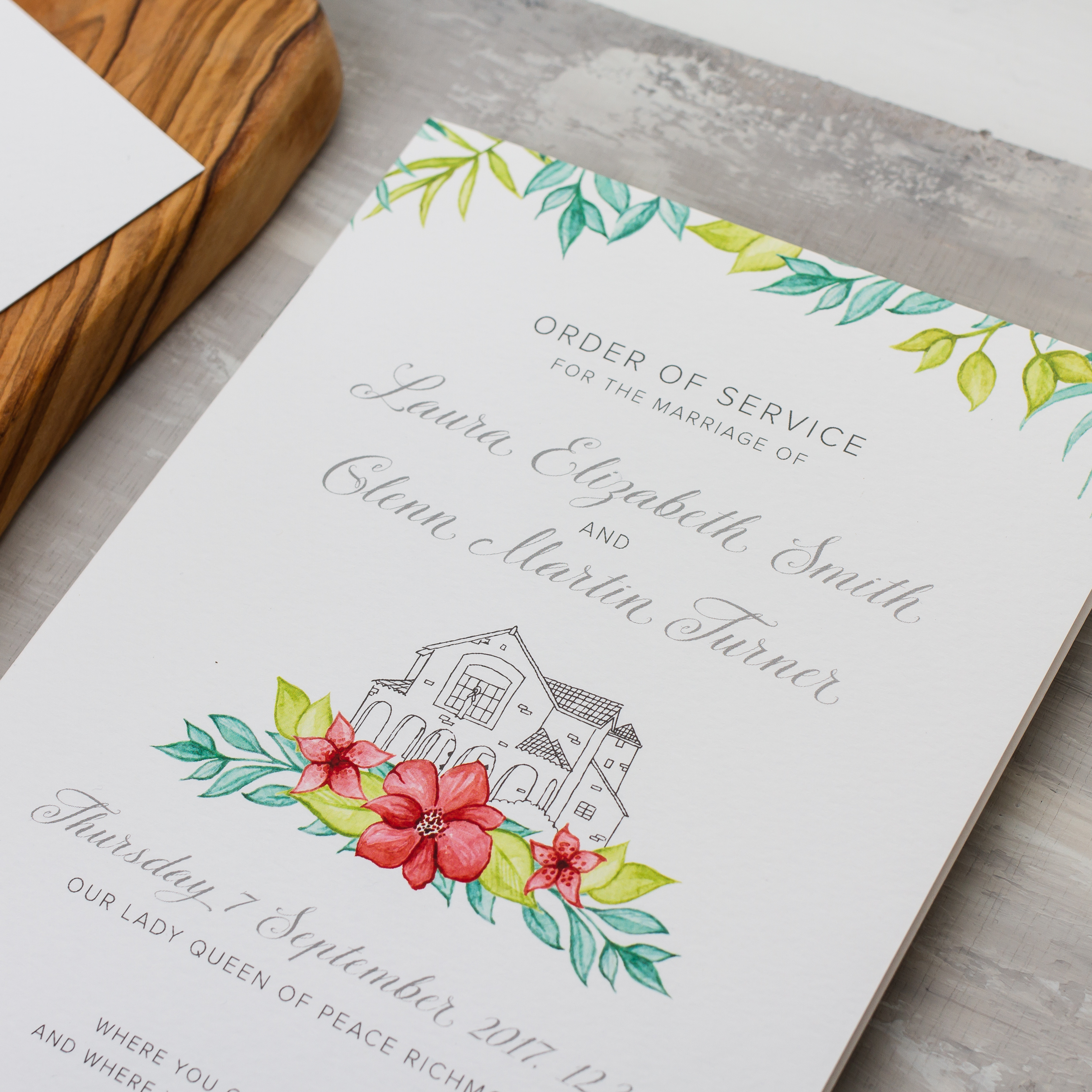 Laura & Glenn Custom Watercolour Design Woodland Deer, Flora and Fauna, Boho Wedding Stationery Design - Pingle Pie 6.jpg