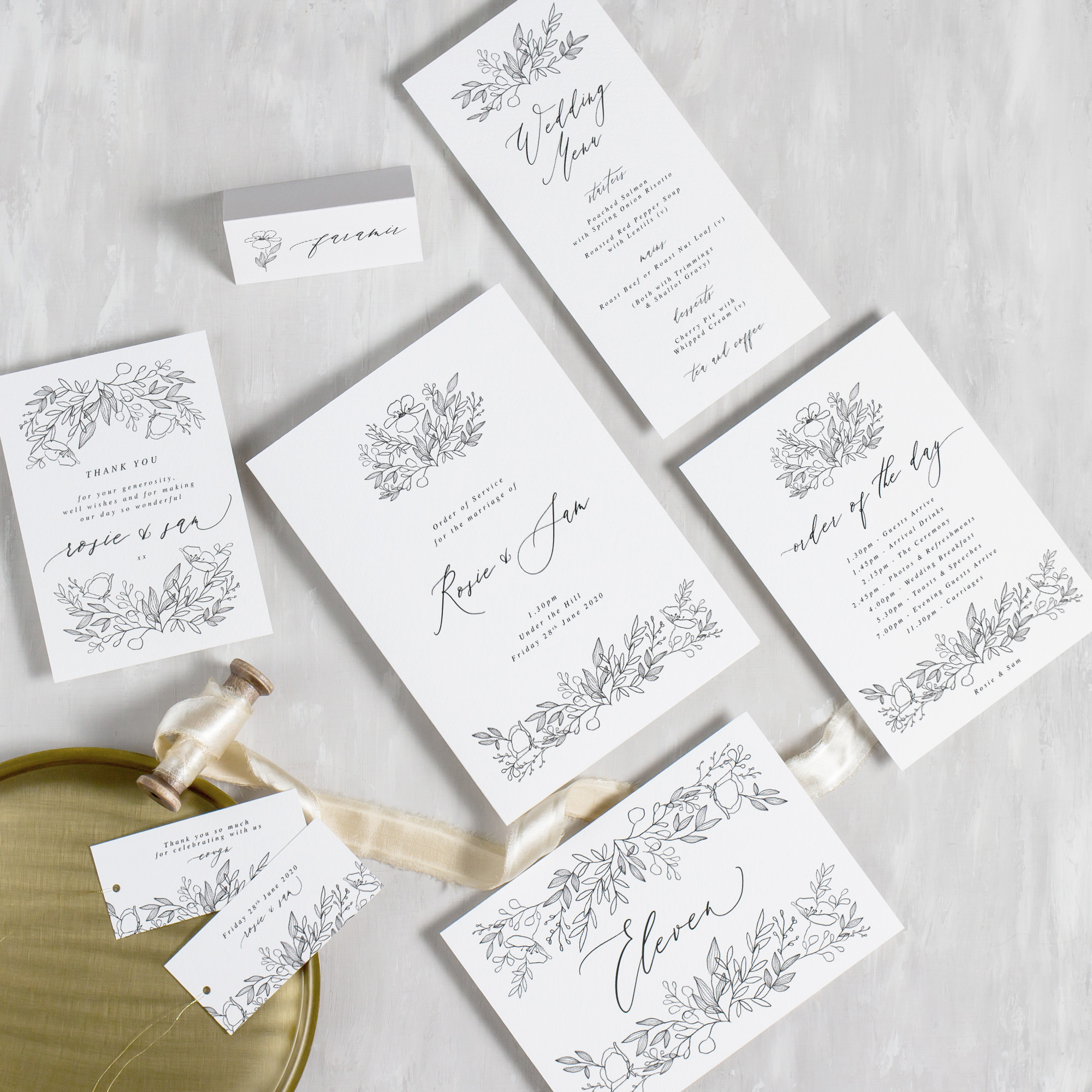 Luxury-Wedding-Stationery-Unique-Illustrated-Floral-Botanical-Leaves-Flowers-Spring-Summer-Wedding-On-The-Day-Stationery-Compilation-Goldberry-Pingle-Pie.jpg.jpg