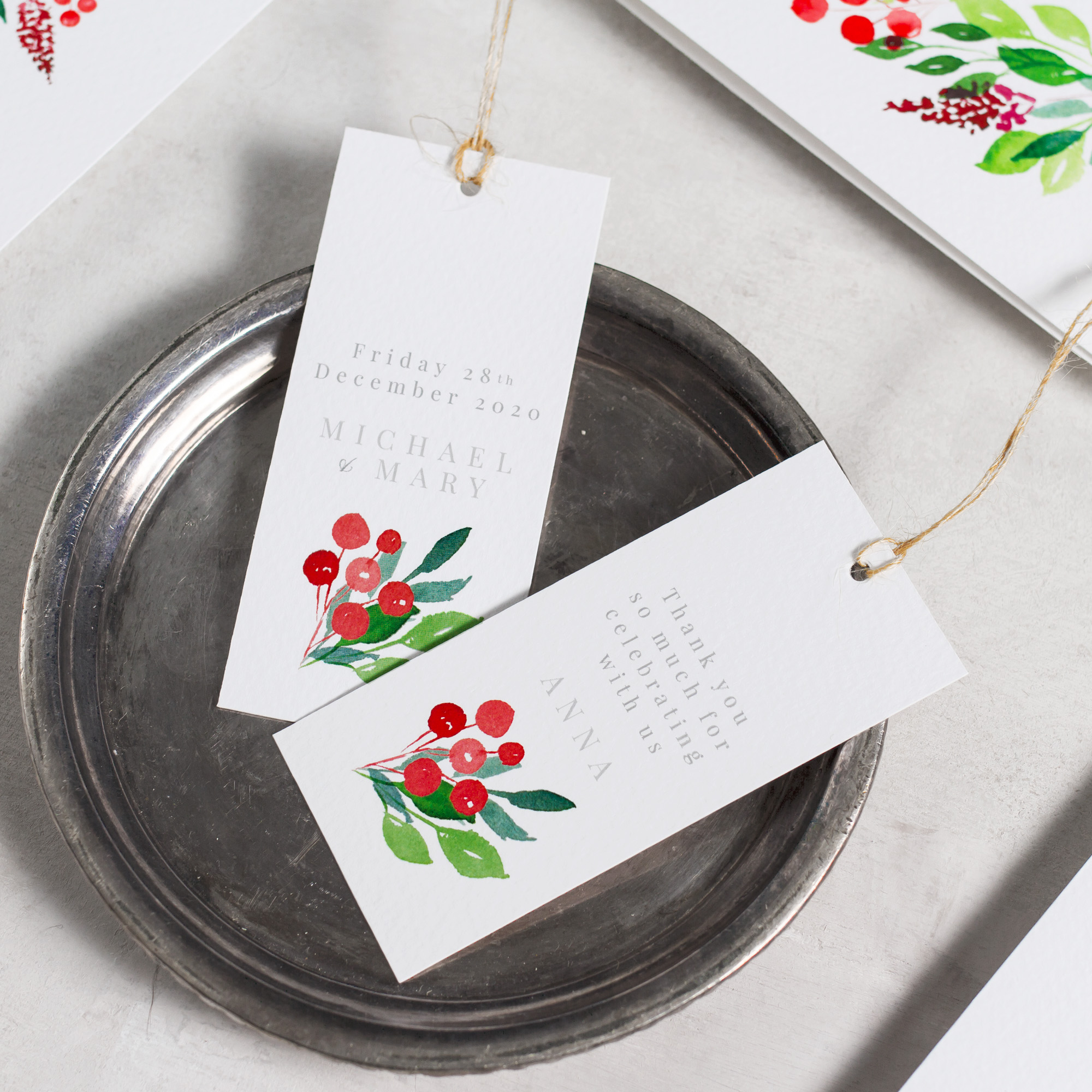 Winter-Wedding-Stationery-Luxury-Unique-Hand-Painted-Botanical-Leaves-Berries-Grenery-Hand-Painted-Wedding-Favour-Tag-Place-Cards-Evergreen-Pingle-Pie.jpg