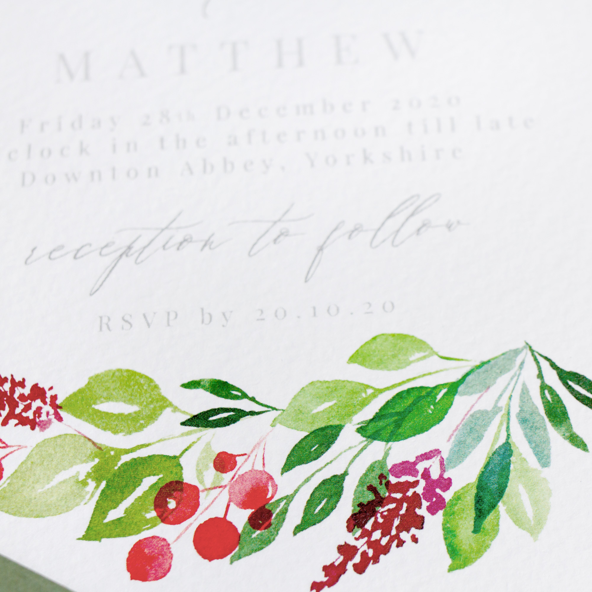 Winter-Wedding-Stationery-Luxury-Unique-Hand-Painted-Botanical-Leaves-Berries-Grenery-Hand-Painted-Wedding-Invitation-Close-Up-Evergreen-Pingle-Pie.jpg
