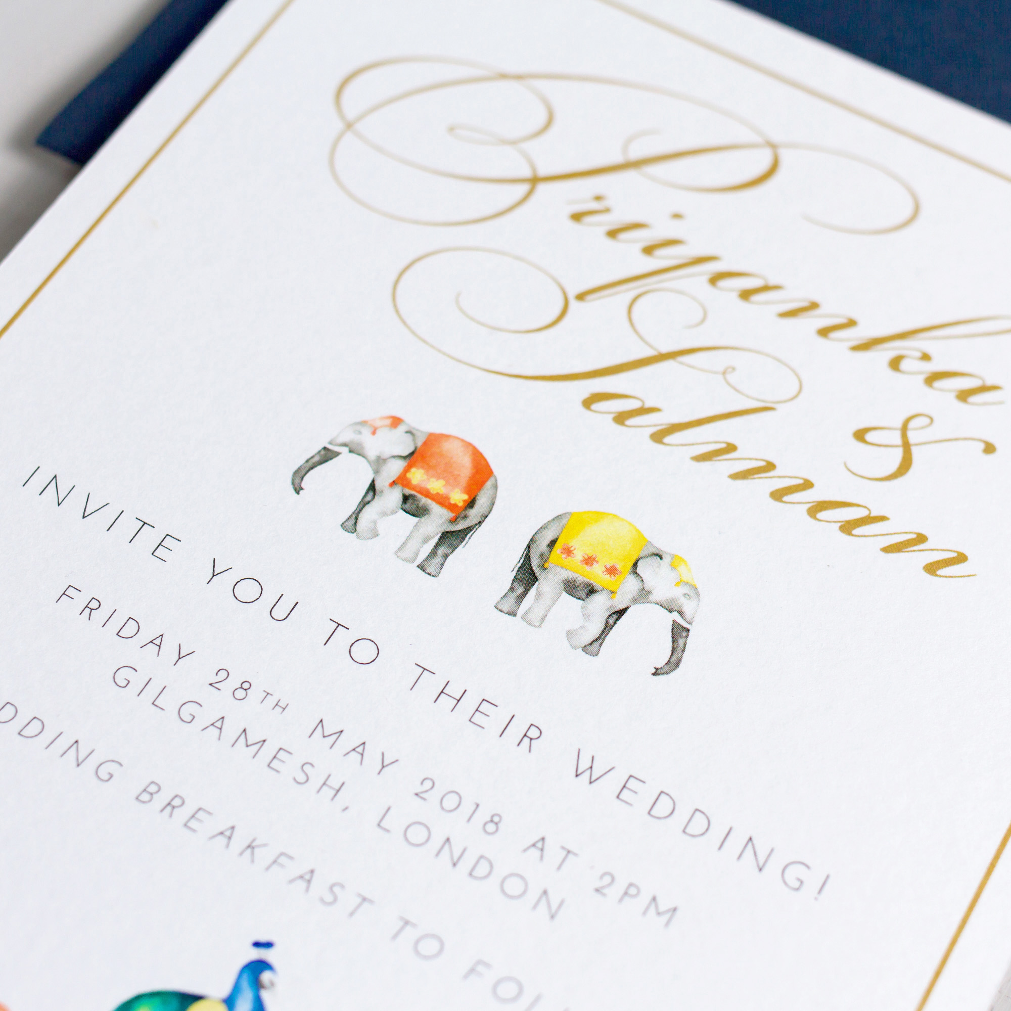 Indian-Summer-Wedding-Stationery-Luxury-Unique-Hand-Painted-Botanical-Peacock-Elephant-Summer-Bright-Gold-Hand-Painted-Wedding-Invitation-Details-Pingle-Pie.jpg