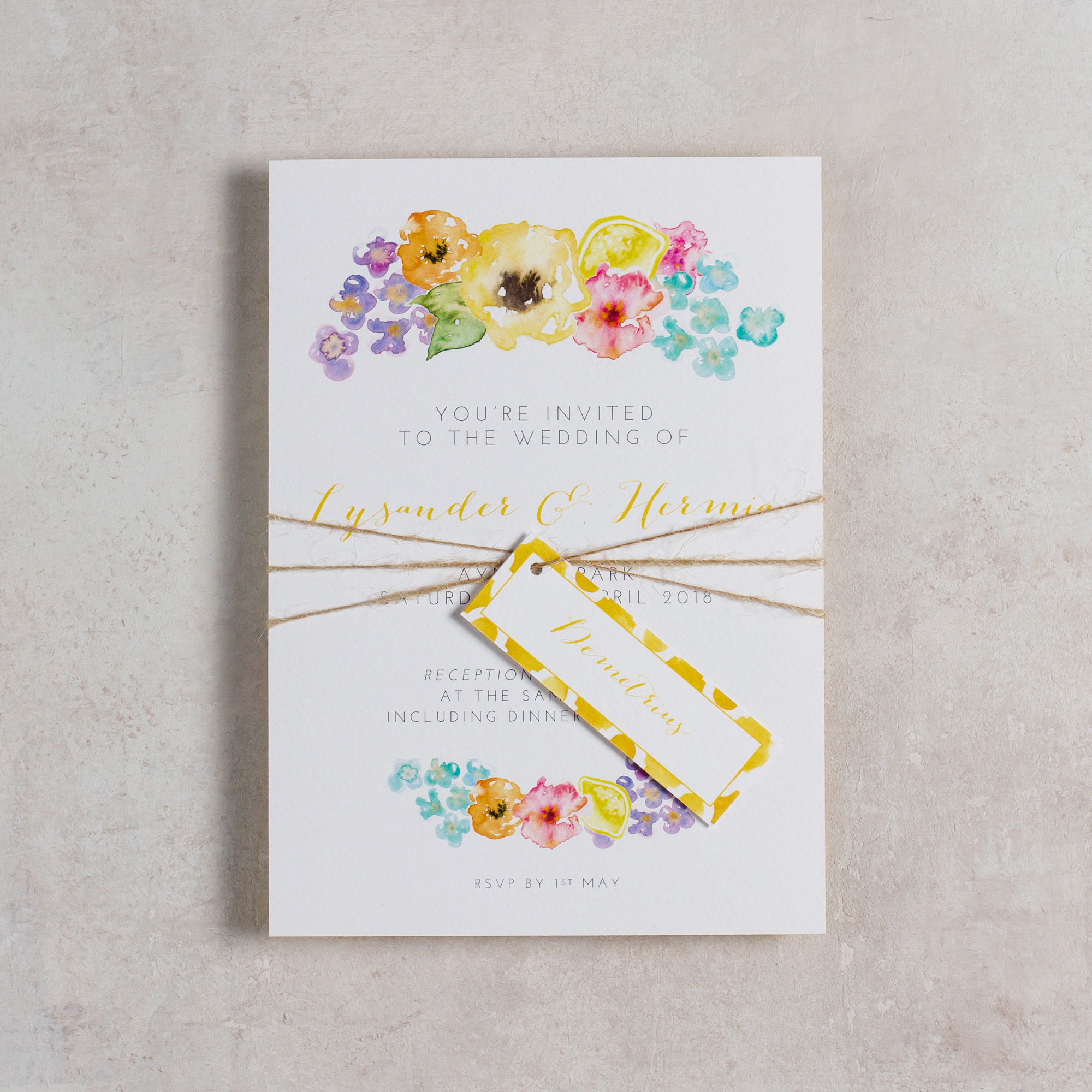 Summery-Wedding-Stationery-Luxury-Unique-Hand-Painted-Floral-Bright-Yellow-Wedding-Invitation-Parcel-Rising-Sun-Pingle-Pie.jpg