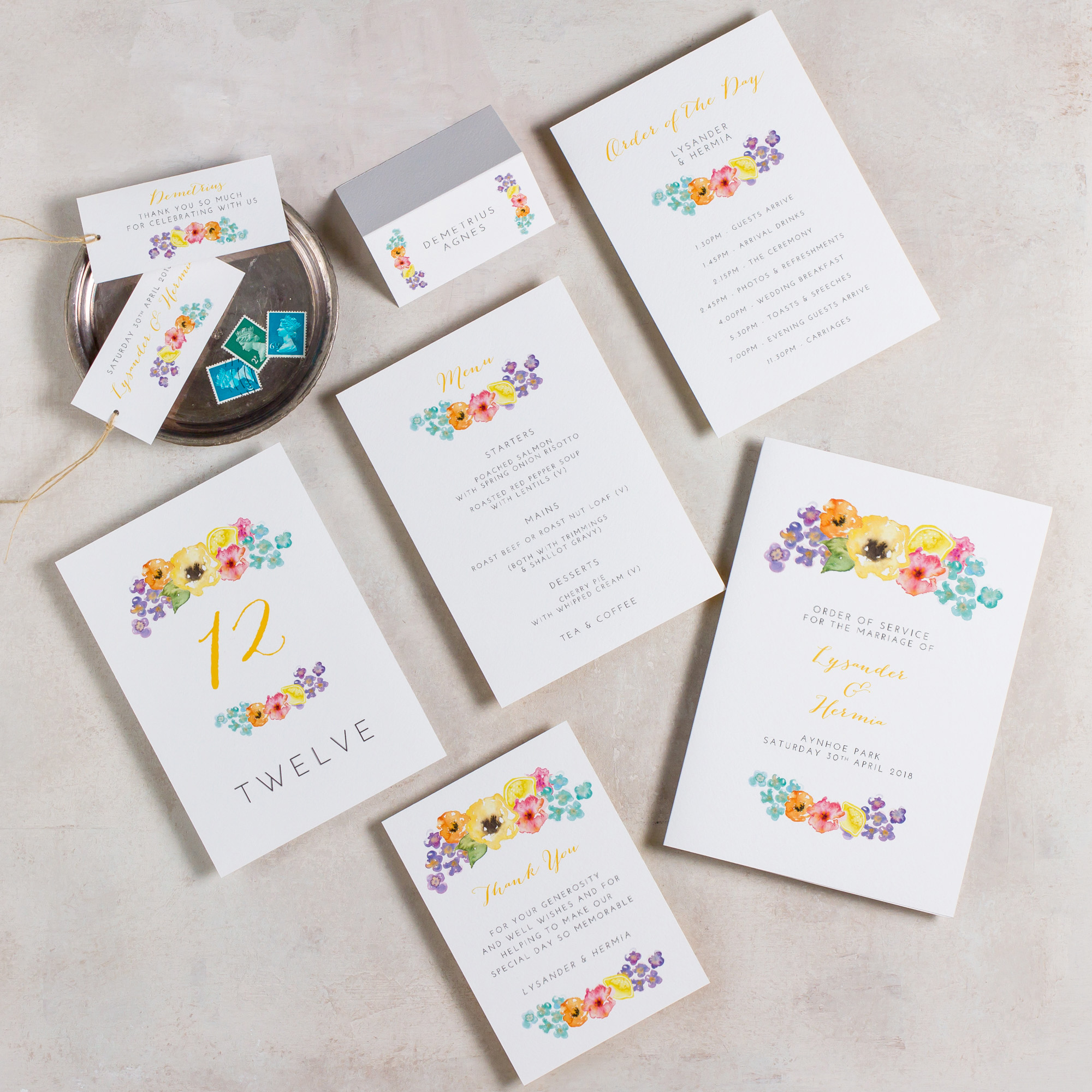 Summery-Wedding-Stationery-Luxury-Unique-Hand-Painted-Floral-Bright-Yellow-Wedding-On-The-Day-Collection-Rising-Sun-Pingle-Pie.jpg