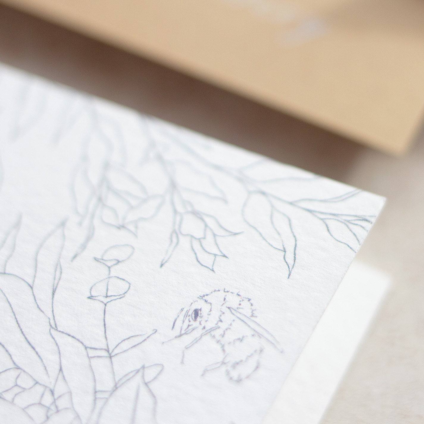 Bumble Bee Luxury Fine Art Wedding Stationery with Illustrated Botanical Elements - www.pinglepie.com.jpg