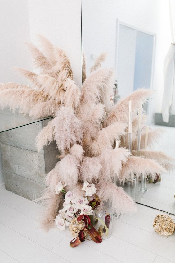 Blush Pink Wedding Theme Inspiration Pampus Grass.jpg