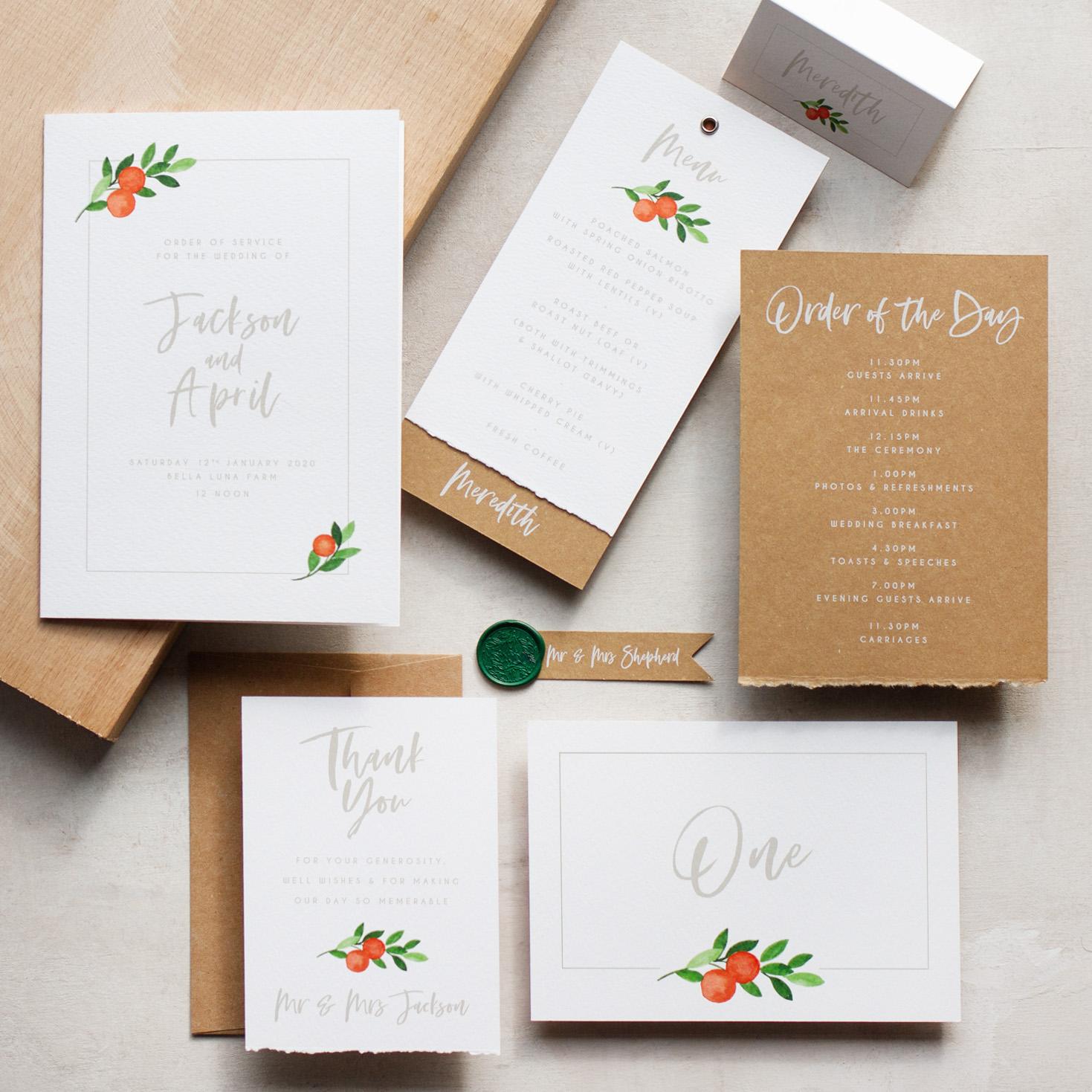 Citrus Orange Wedding Decor, Earthy and Luxury, Eco Friendly Wedding Stationery, Orange Wedding Decor, Watercolour Wedding Staionery, Custom Wedding Stationery 12.jpg