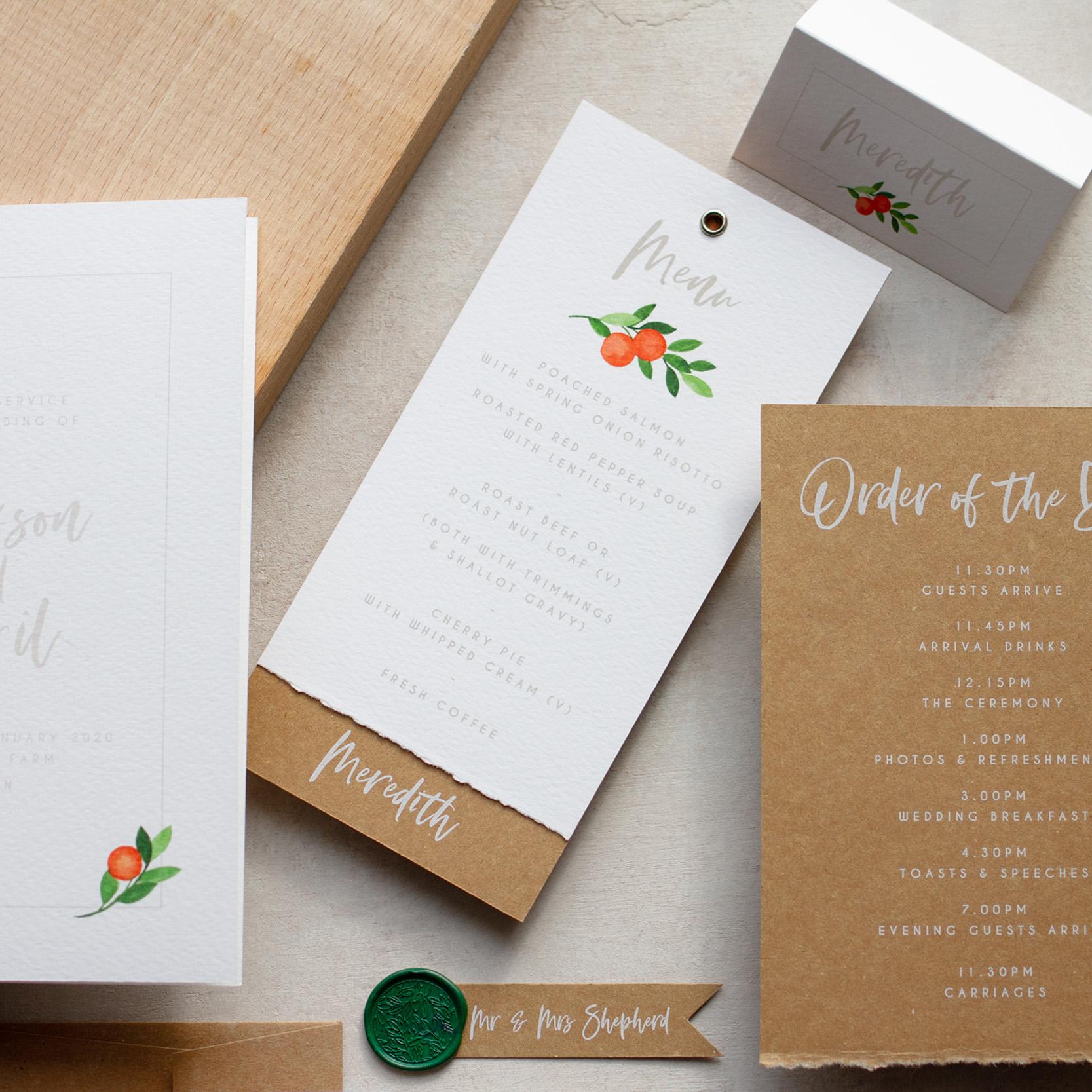 Citrus Orange Wedding Decor, Earthy and Luxury, Eco Friendly Wedding Stationery, Orange Wedding Decor, Watercolour Wedding Staionery, Custom Wedding Stationery 15.jpg
