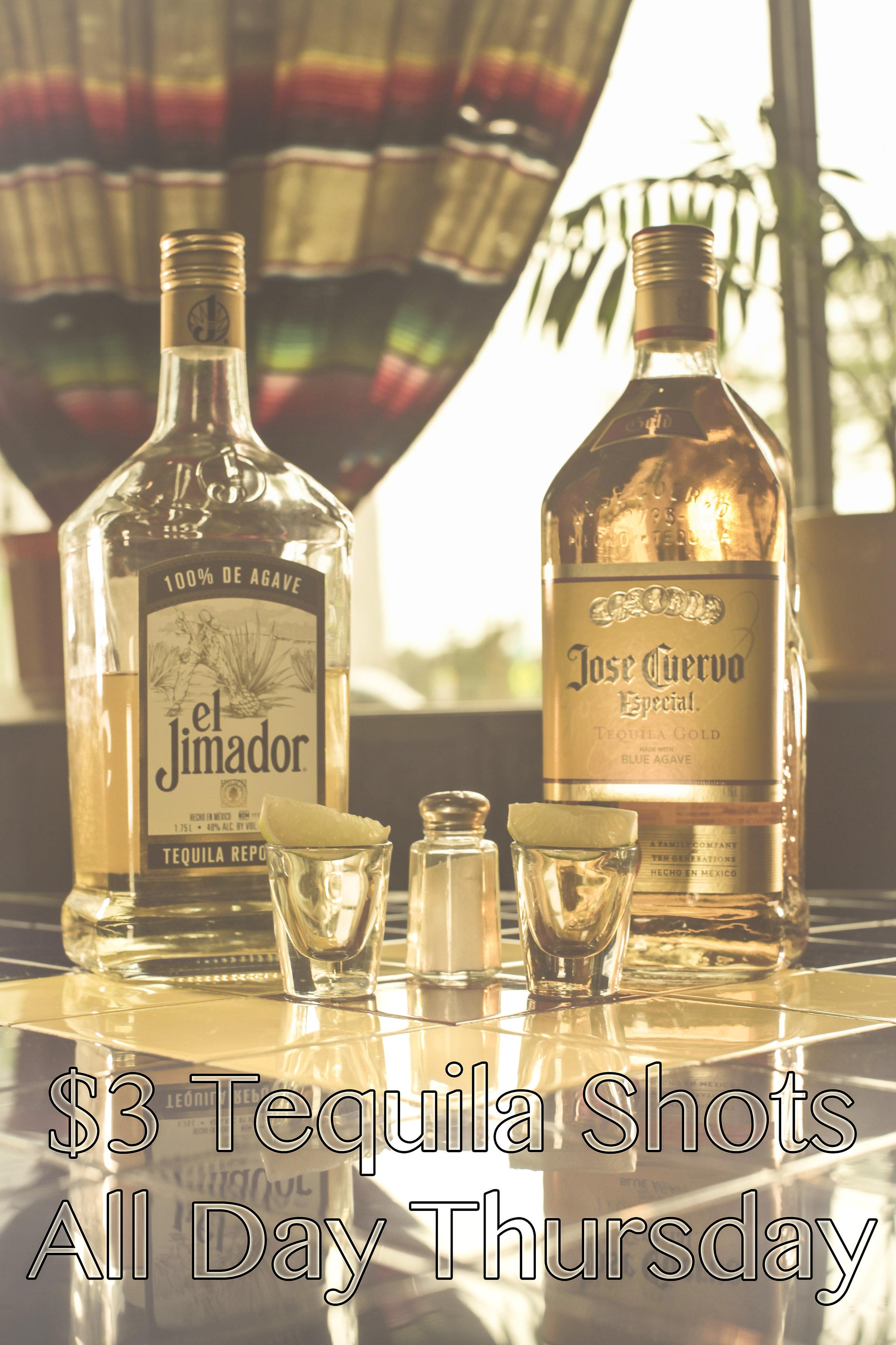$3 El Jimador and Jose Cuervo Shots