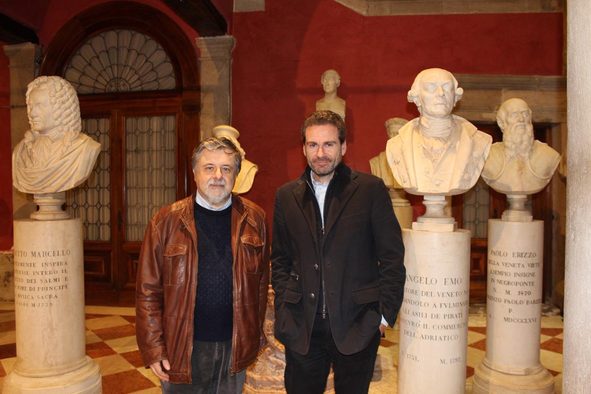 Art Historian Giampaolo Trotta and Exhibition Curator Vito Abba