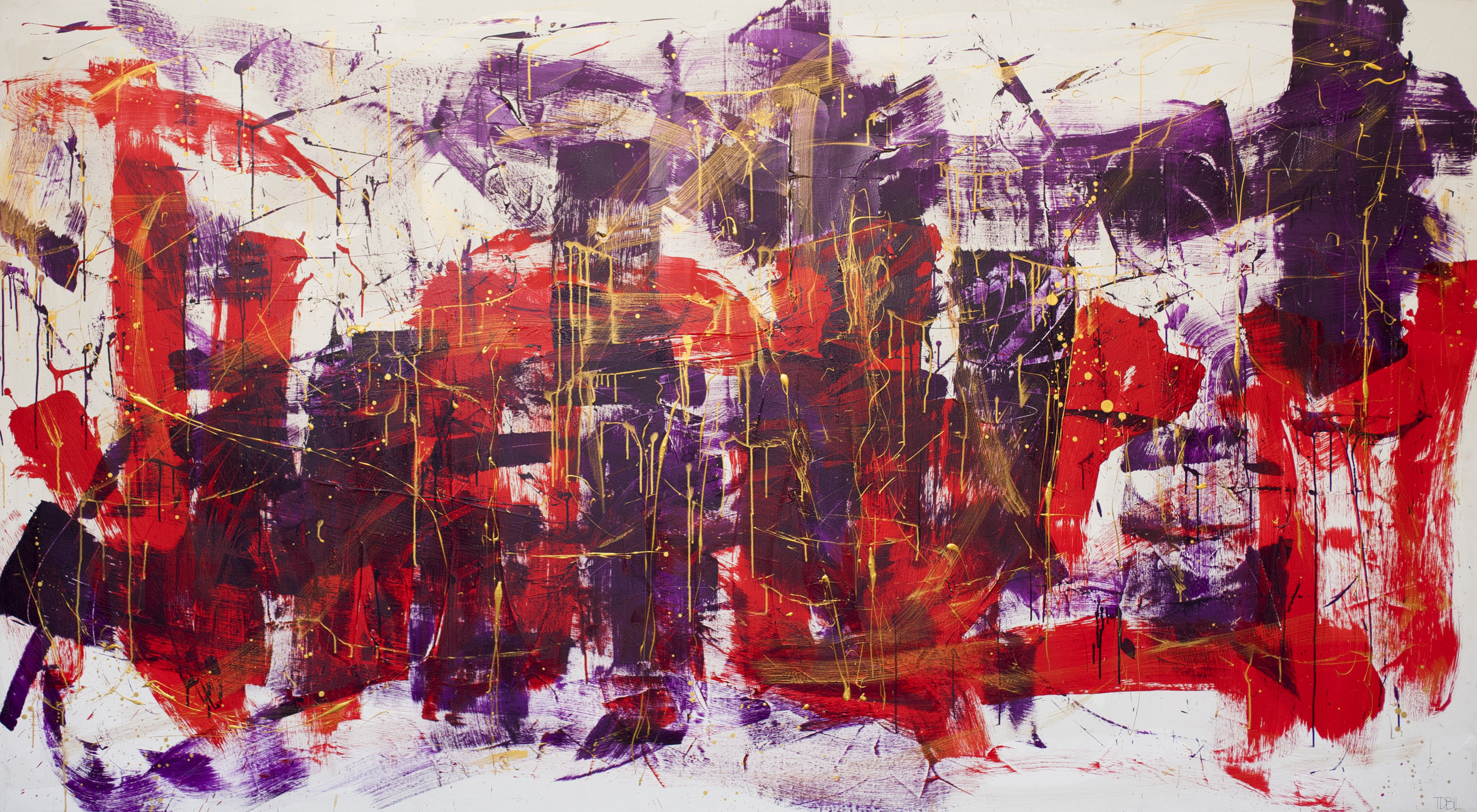 "shakti   acrylic on canvas 60"" x 108""   2014"