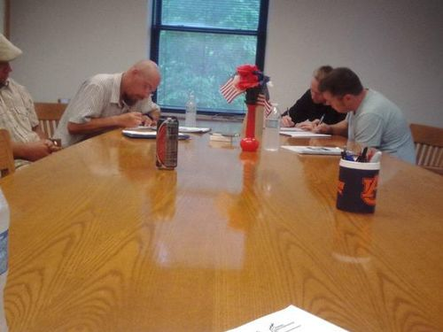 Fathers in the Brown County Supporting Parents Supporting Kids program attend a class. Participants must complete a two-week curriculum covering parenting and job hunting skills.  (Photo: Submitted)