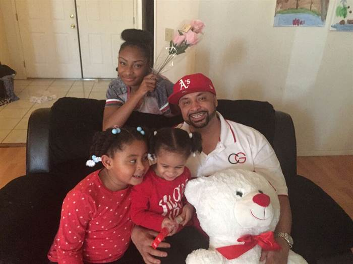 Khari Touré with daughters Ashé, 15, Nia, 6, and Maya, 2. (Image: Khari Touré)