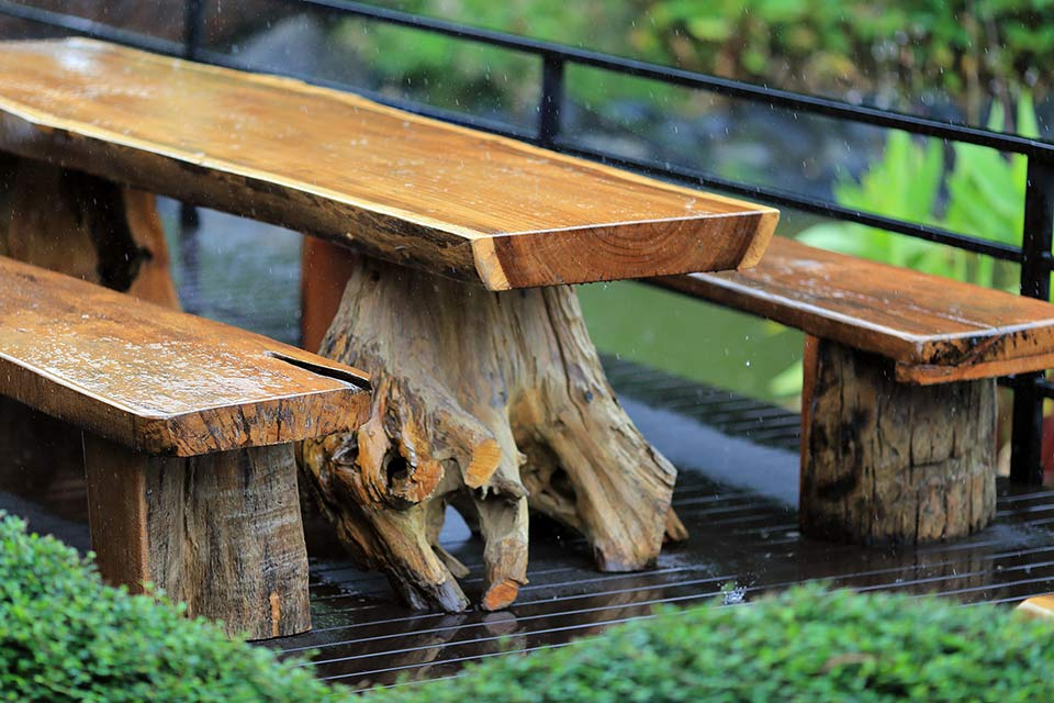 Caring For Your Log Furniture Every, Outdoor Log Furniture