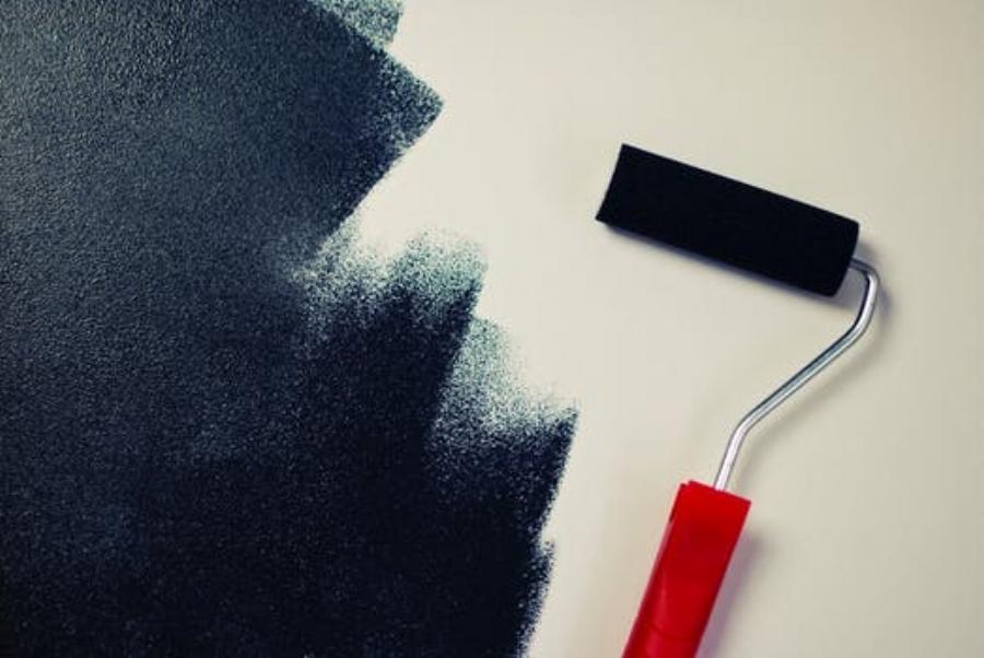 painting-black-paint-roller.