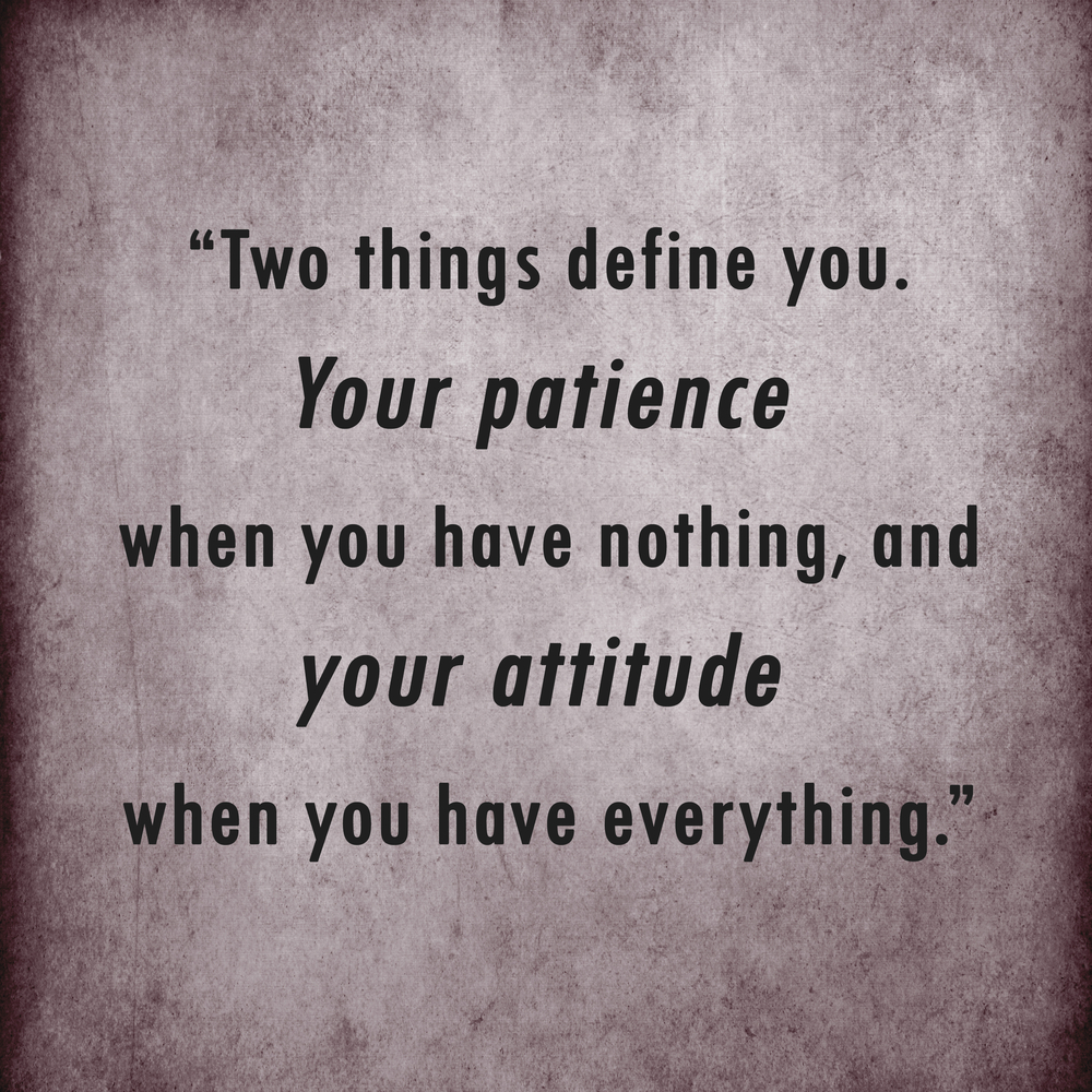 Attitude and Patience are important in TTC, IVF, fertility, infertility