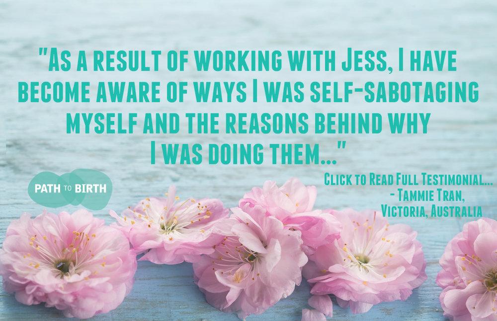 Client Testimonial, referral Jess Lowe Path to Birth Fertility Life Coaching