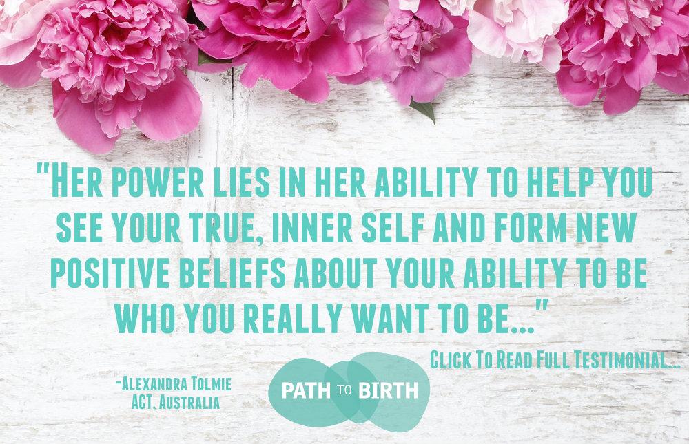 Client Testimonial referral Jess Lowe, Path to Birth Fertility life coaching