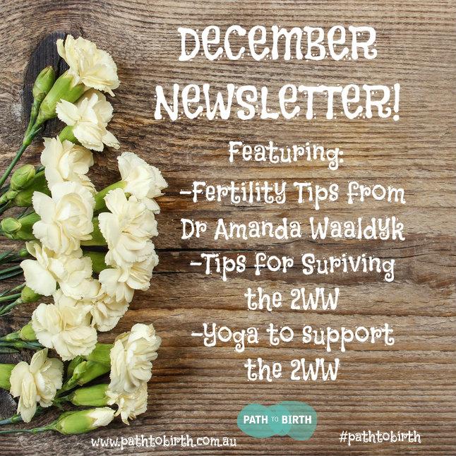 Path to Birth December Newsletter 2014 Fertility Infertility Tips