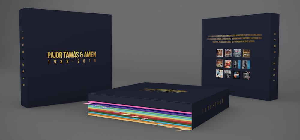 Pajor Tamás & AMEN 1988-2017 - 1 híján 30 év11 album + szövegkönyv + 1 DVD díszdobozbanA mi történelmünk......és a java csak most jön!