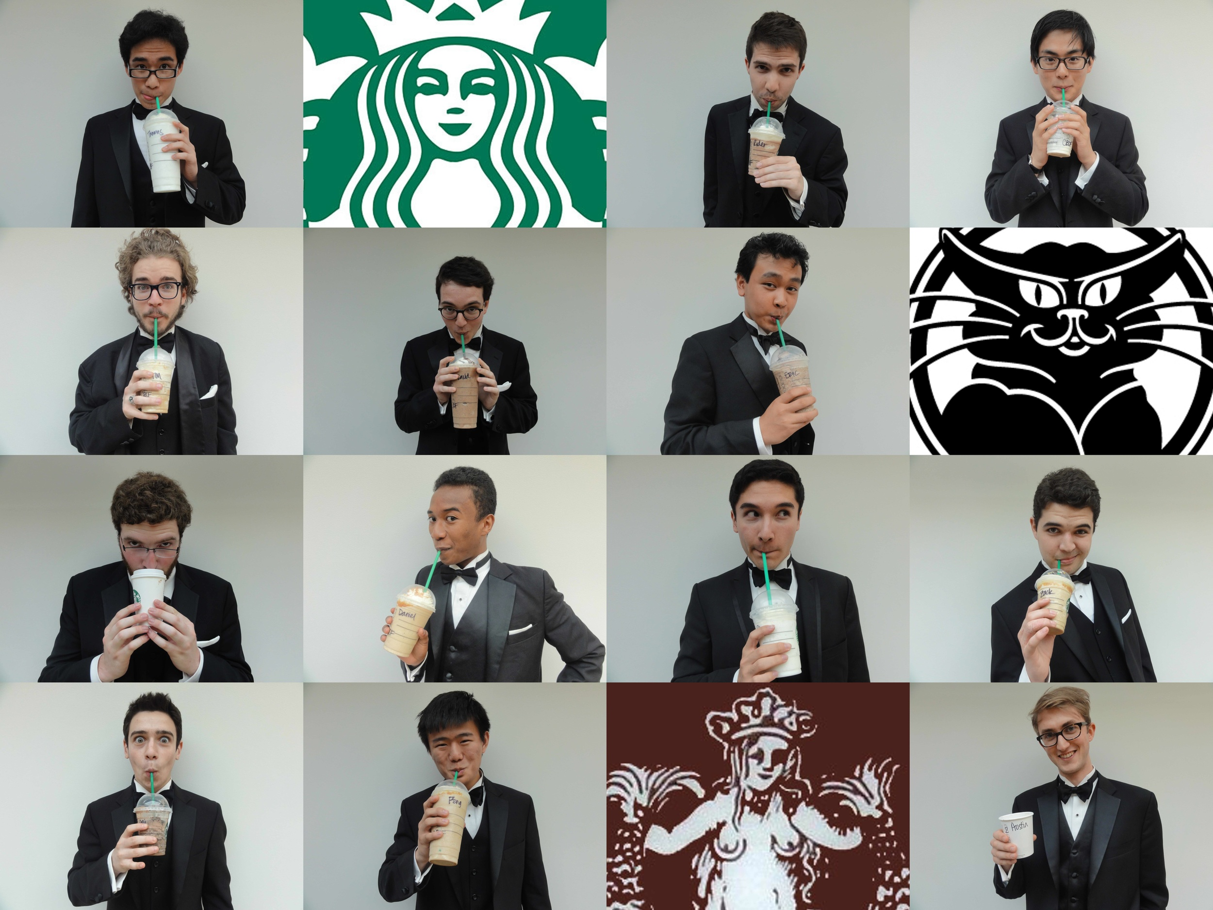 The Alley Cats express their love for Starbucks, in their own way