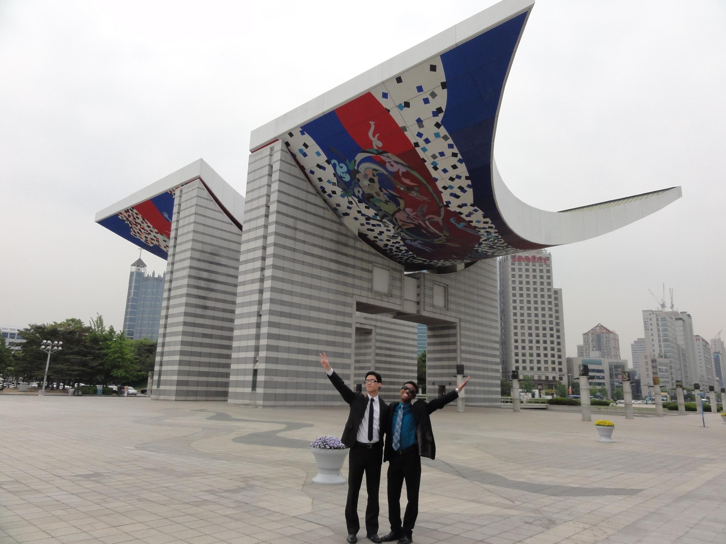 The World Peace Gate in Seoul