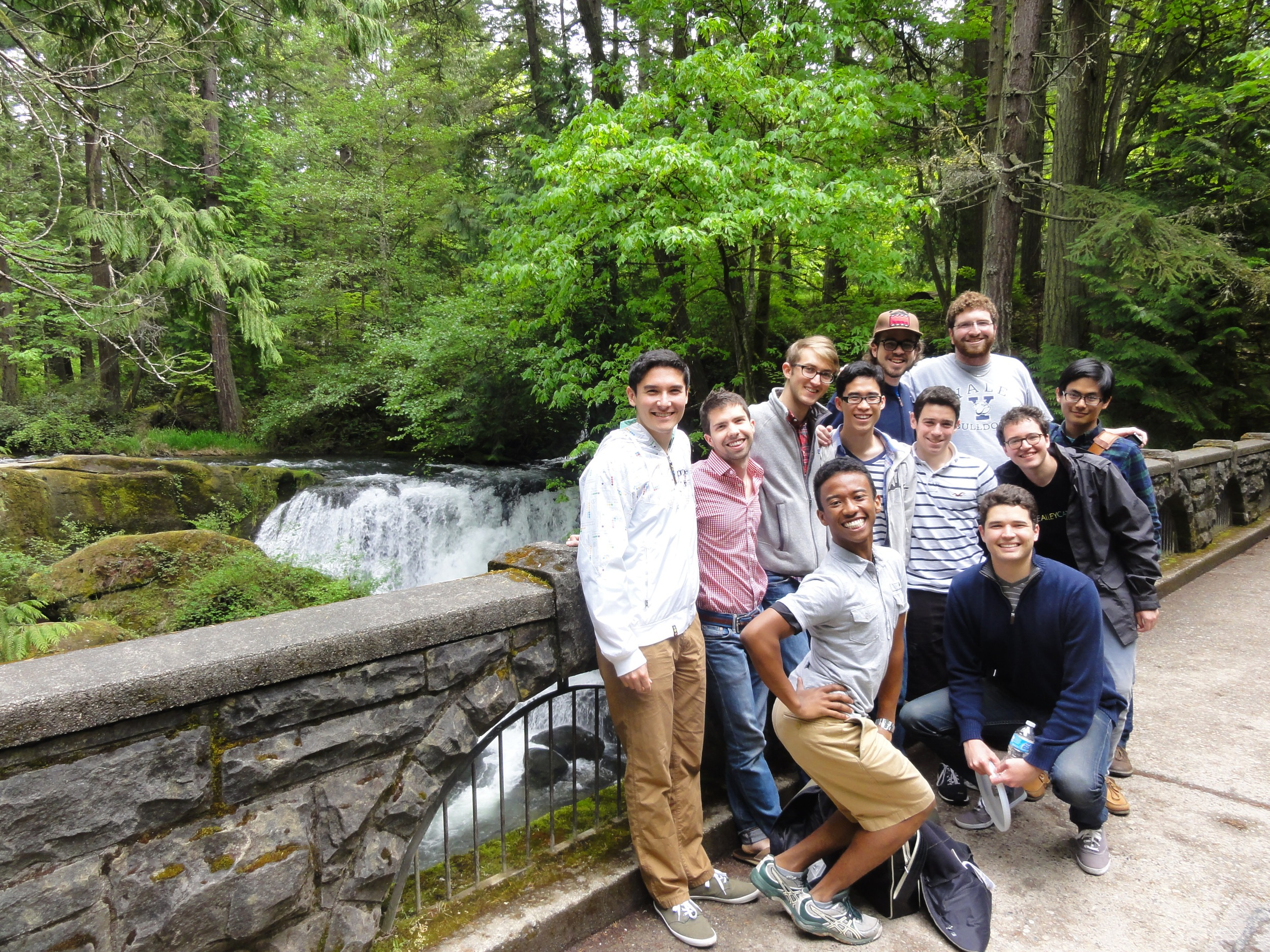 The Alley Cats visit Whatcom Falls in Bellingham, Washington