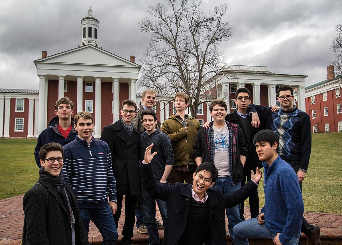 Posing at Washington & Lee University