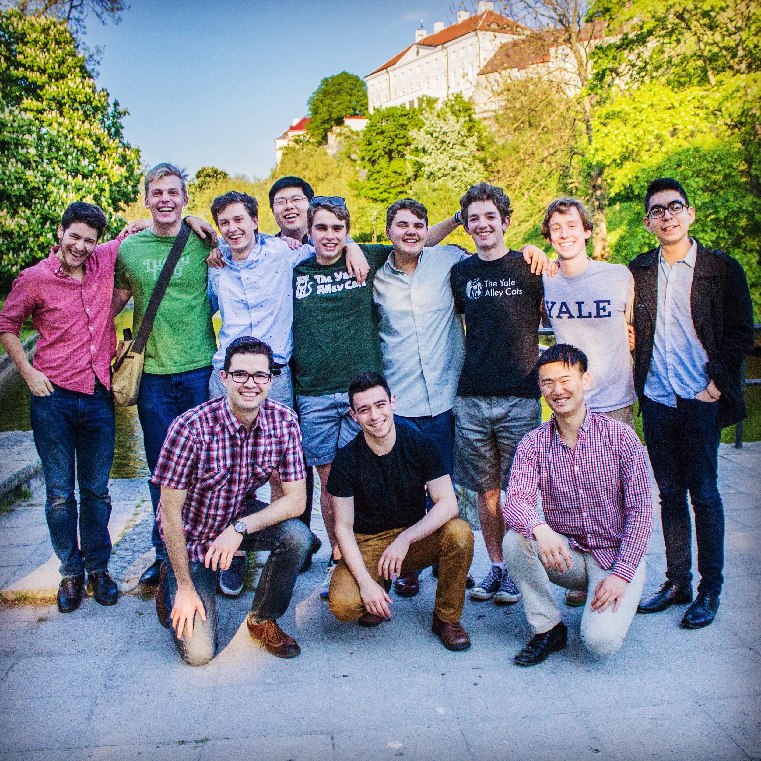 Enjoying the last day of summer tour together in Tallinn, Estonia