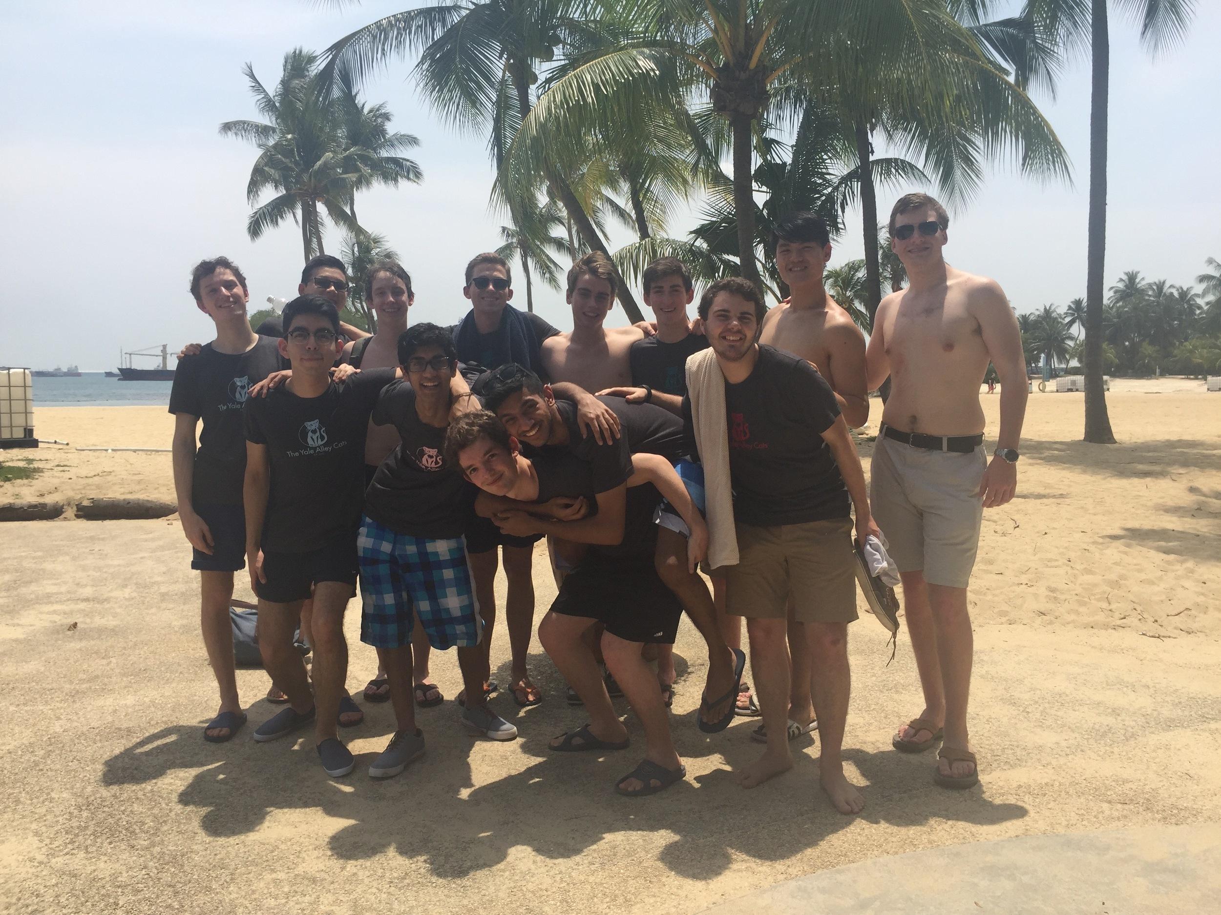 Beach-day madness on Sentosa Island