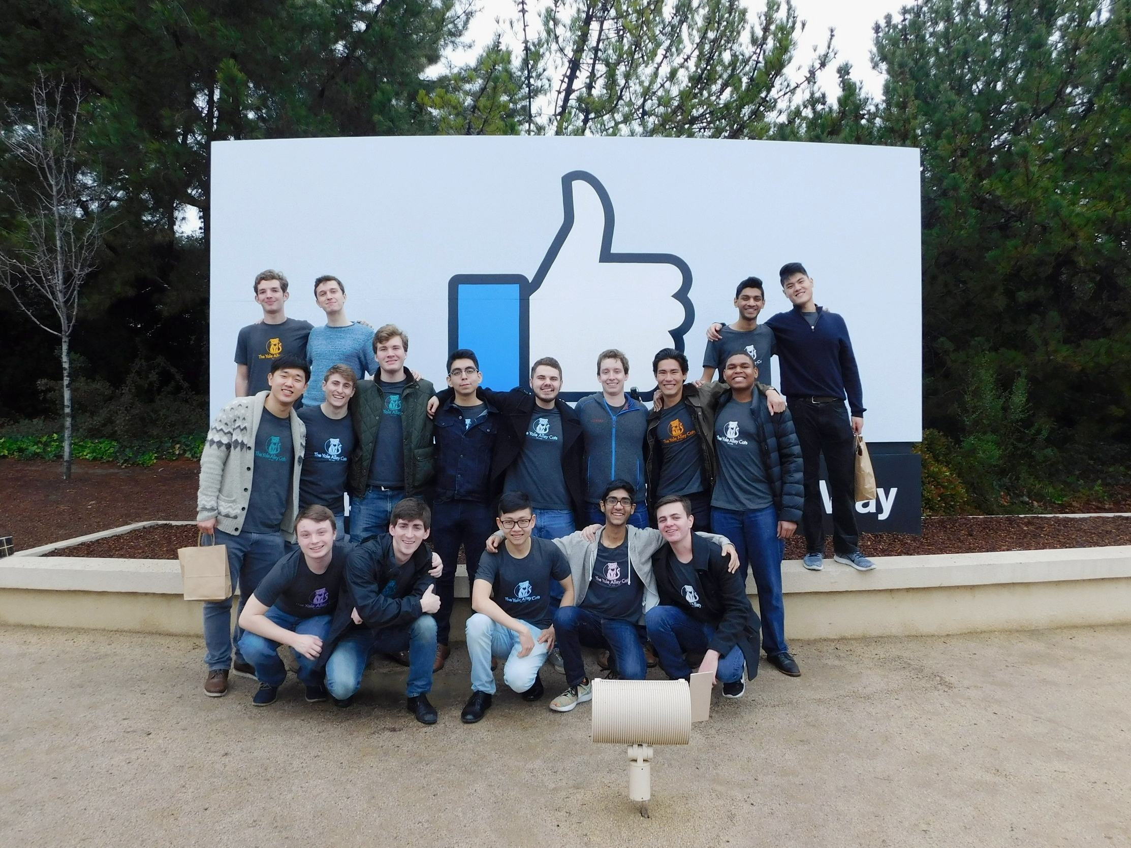 Performance at Facebook Headquarters while on tour in California.