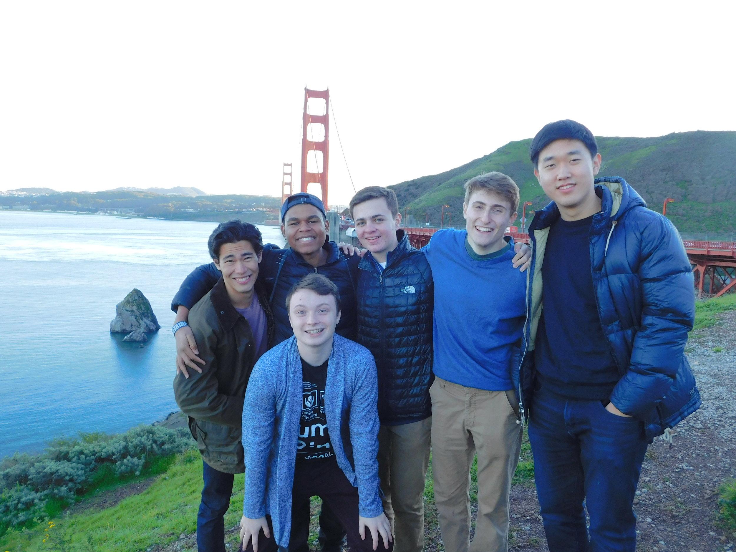 Freshmen Kittens in front of the Golden Gate Bridge