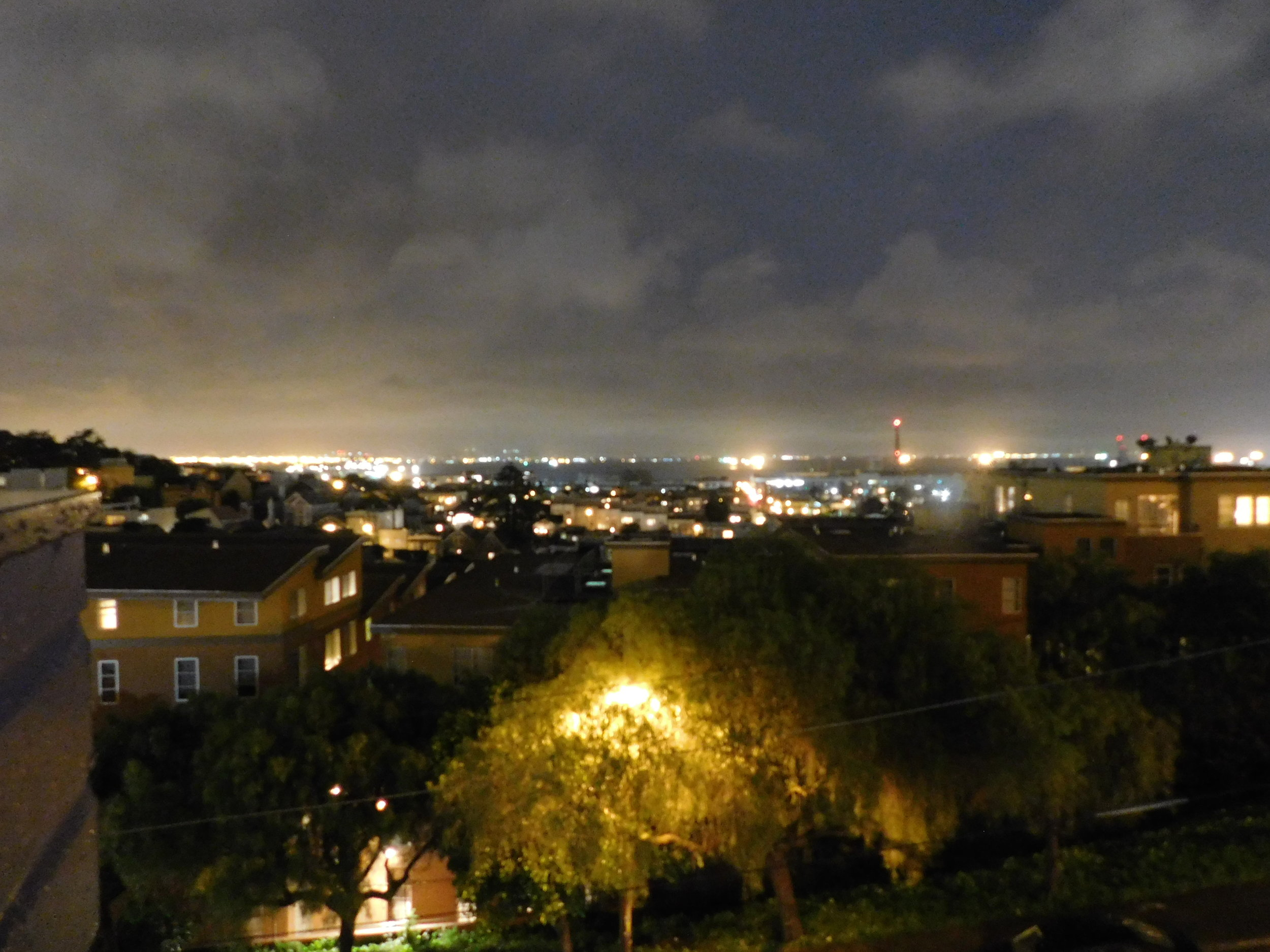 View of the city at night!