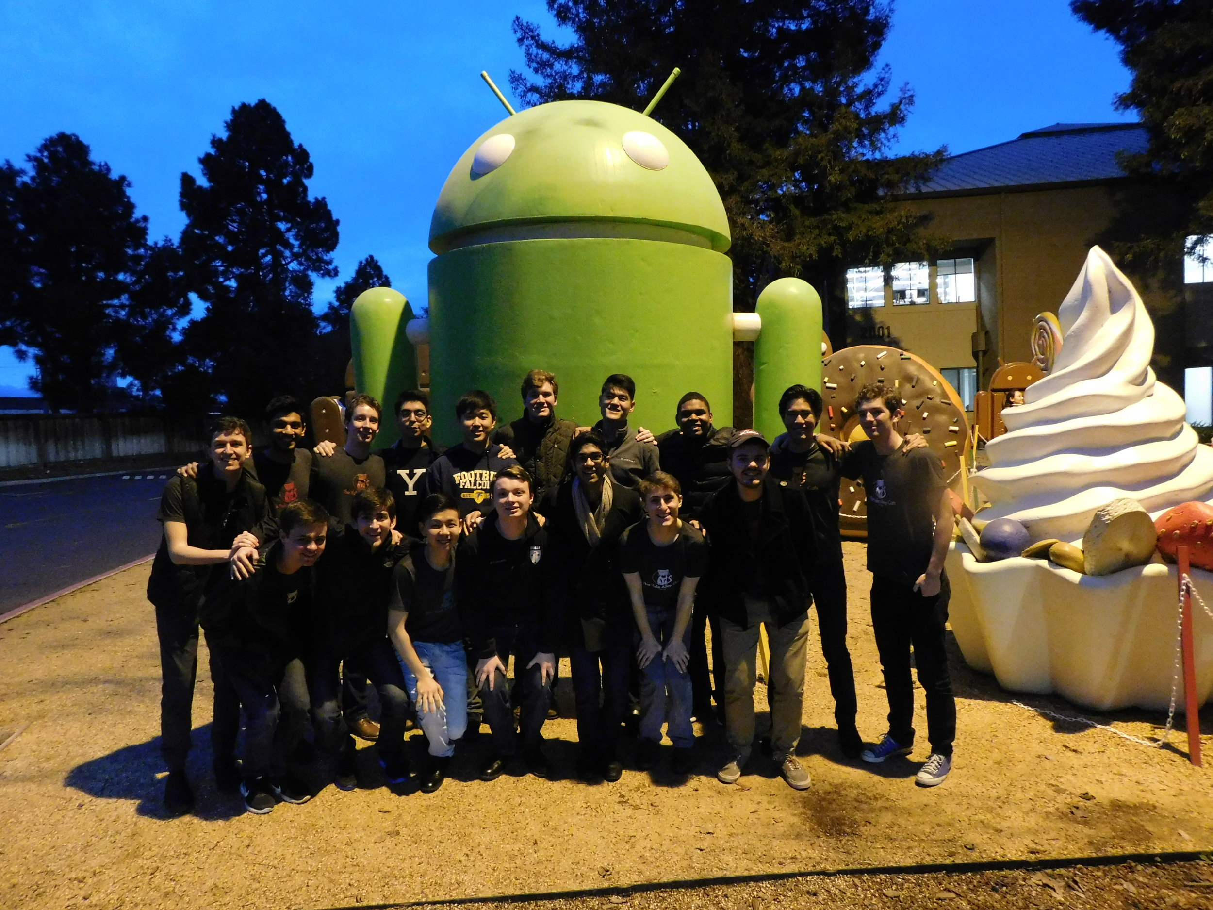 Evening performance at Google Headquarters