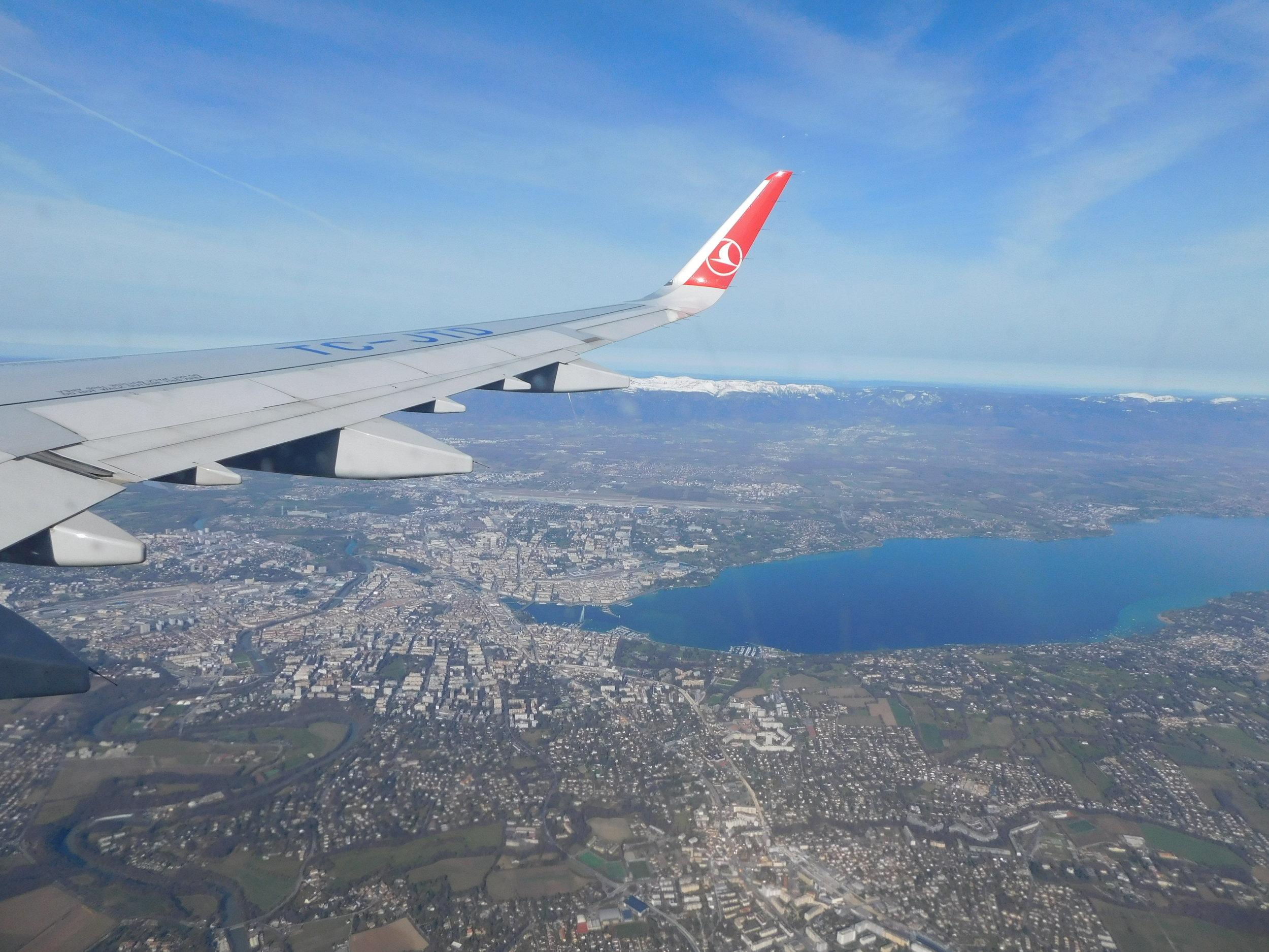 Flying to Geneva!
