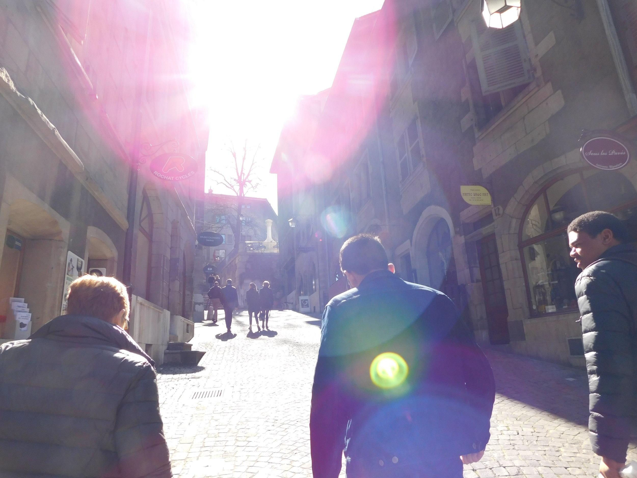 Walking through Geneva