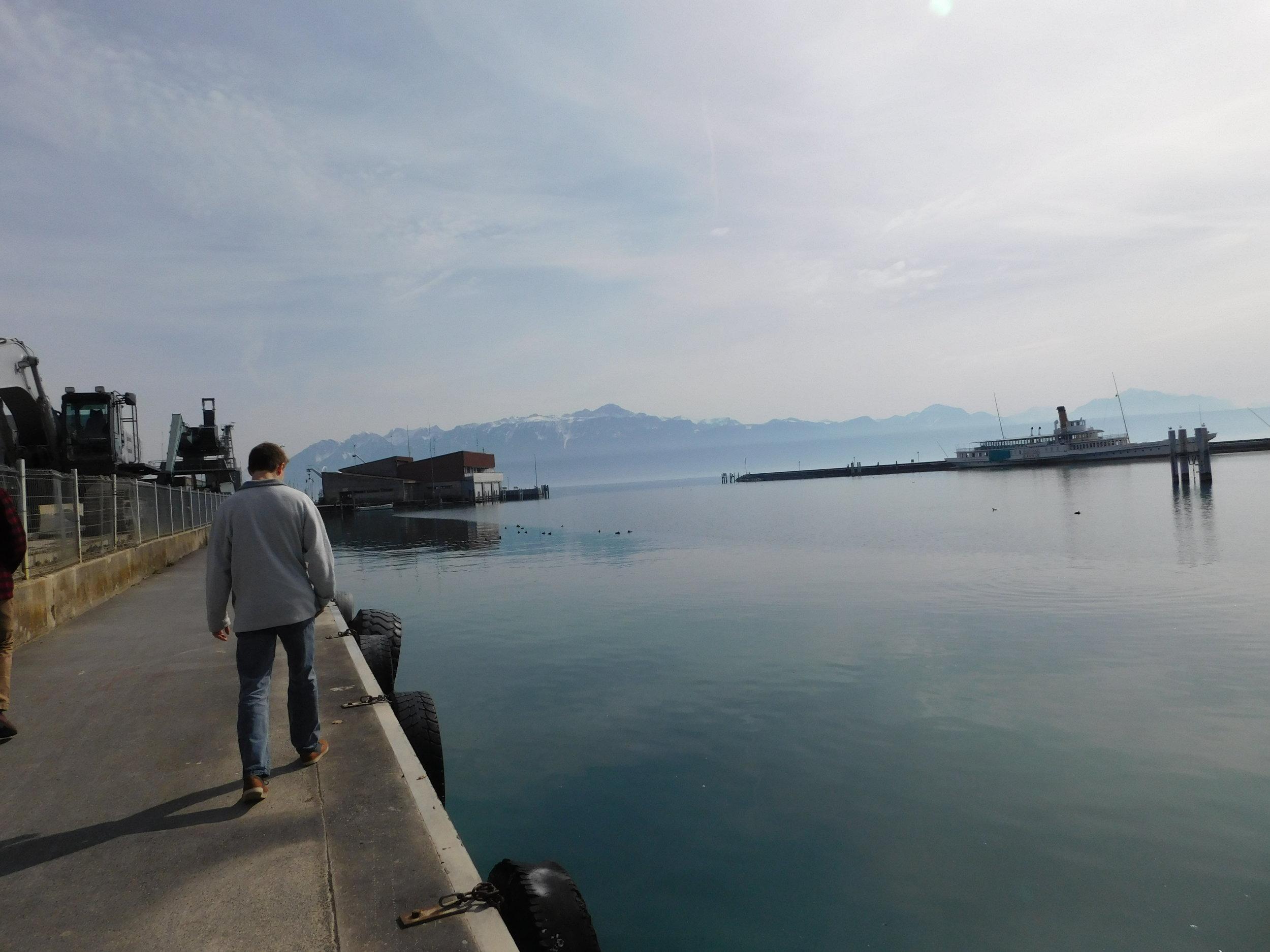 Seeing the harbor in Lausanne, Switzerland