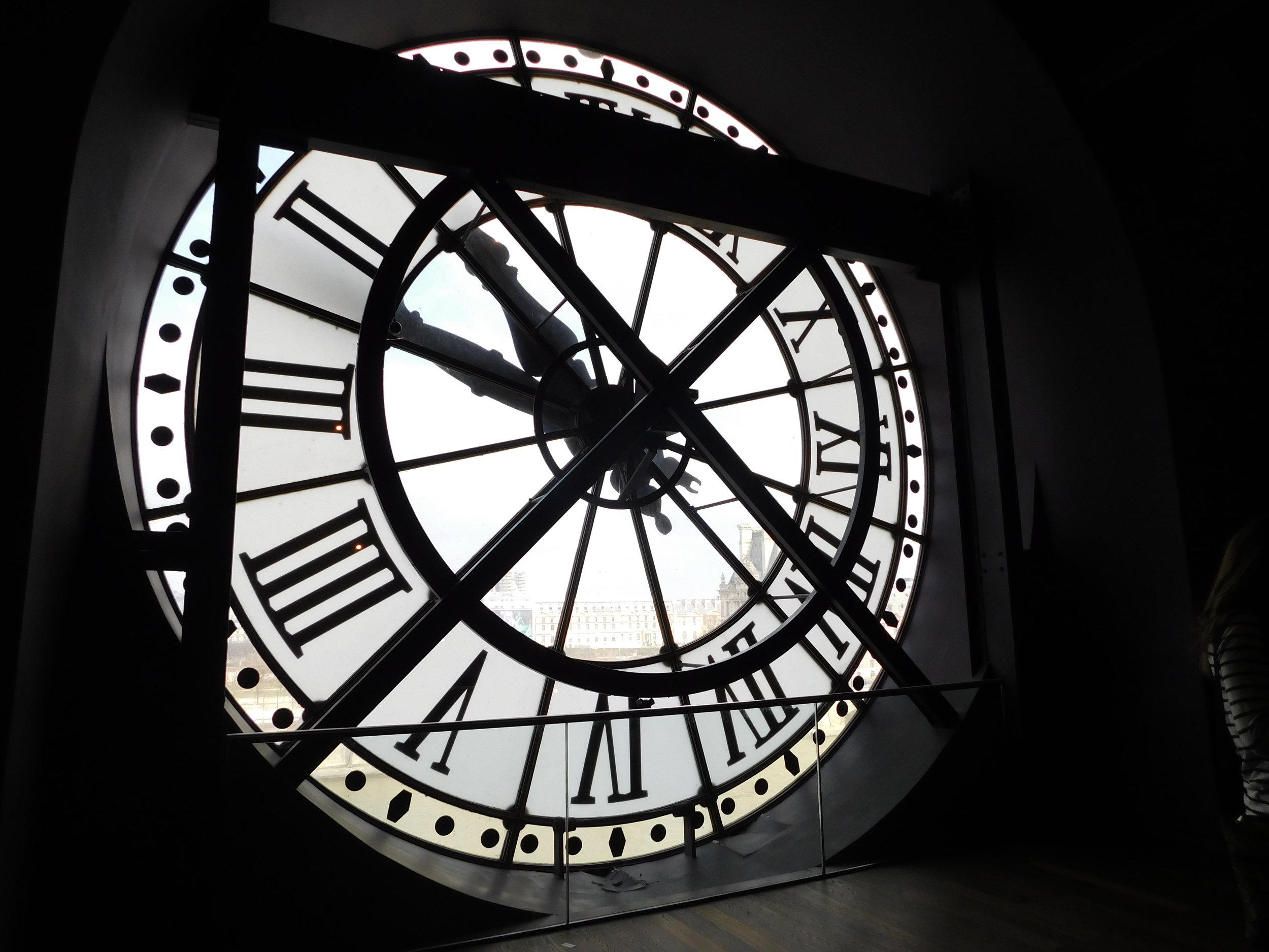 Famous clock inside the Musée d'Orsay