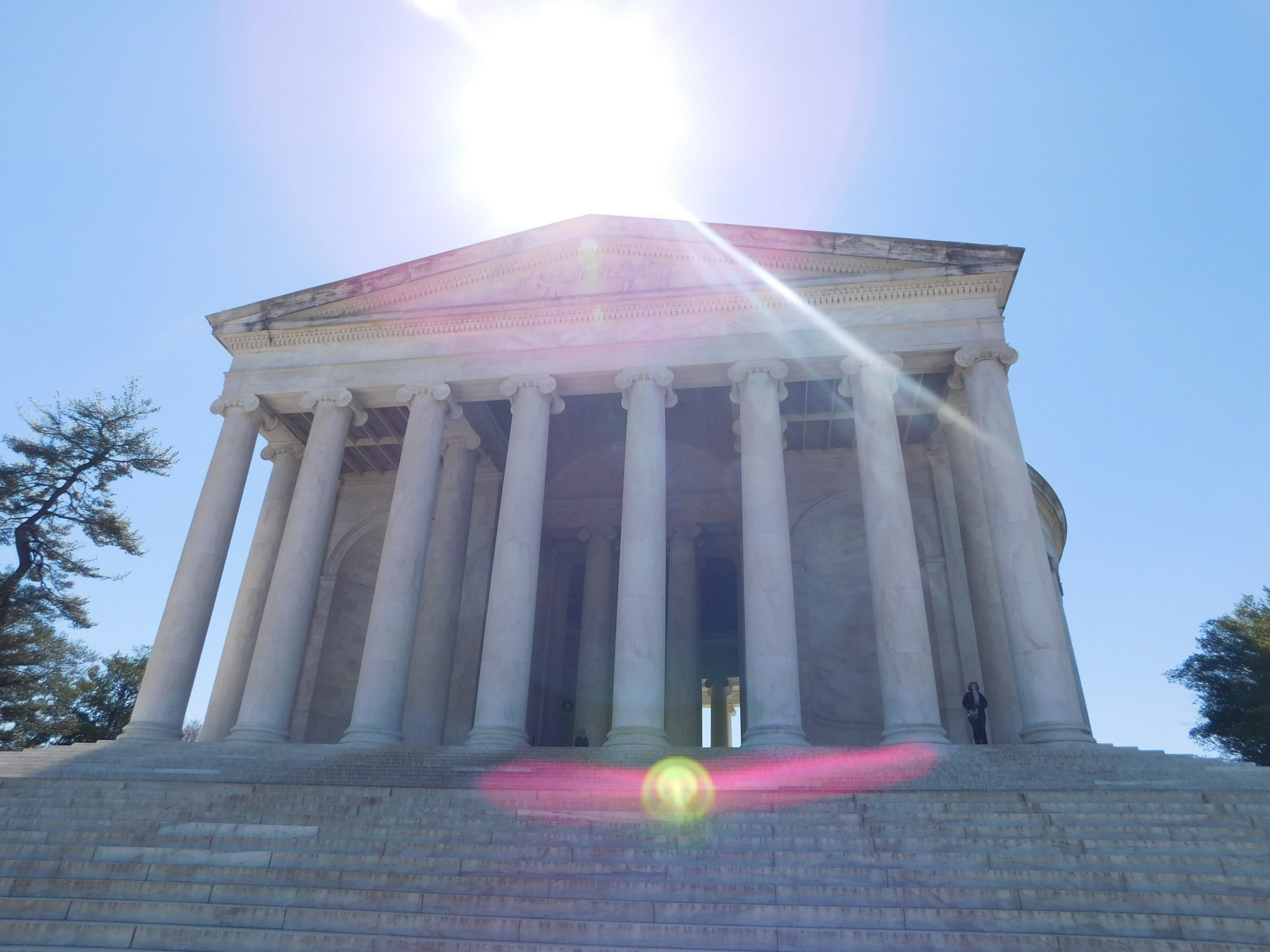 Passing by the Jefferson Monument