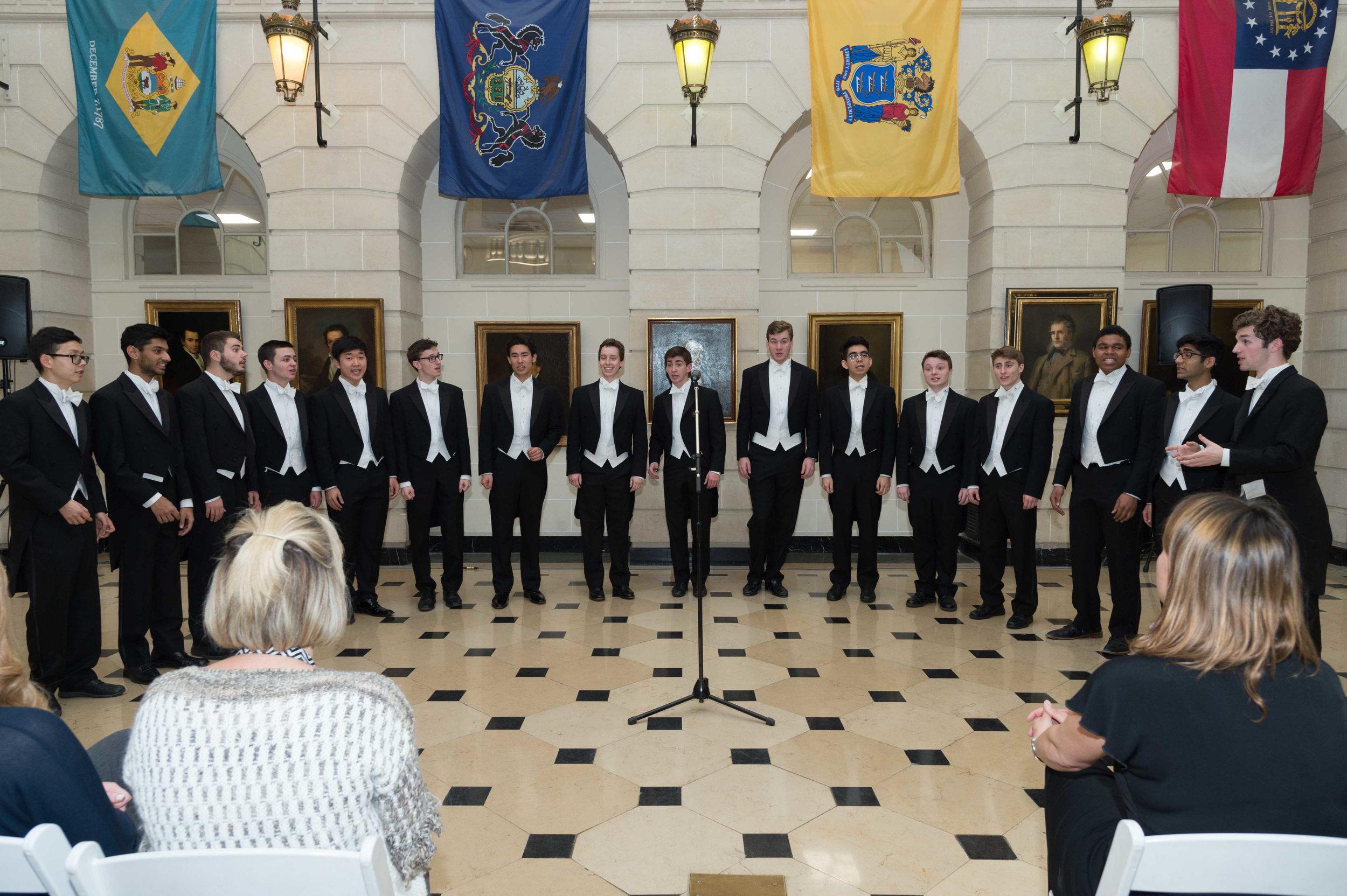 YAC singing at the Embassy