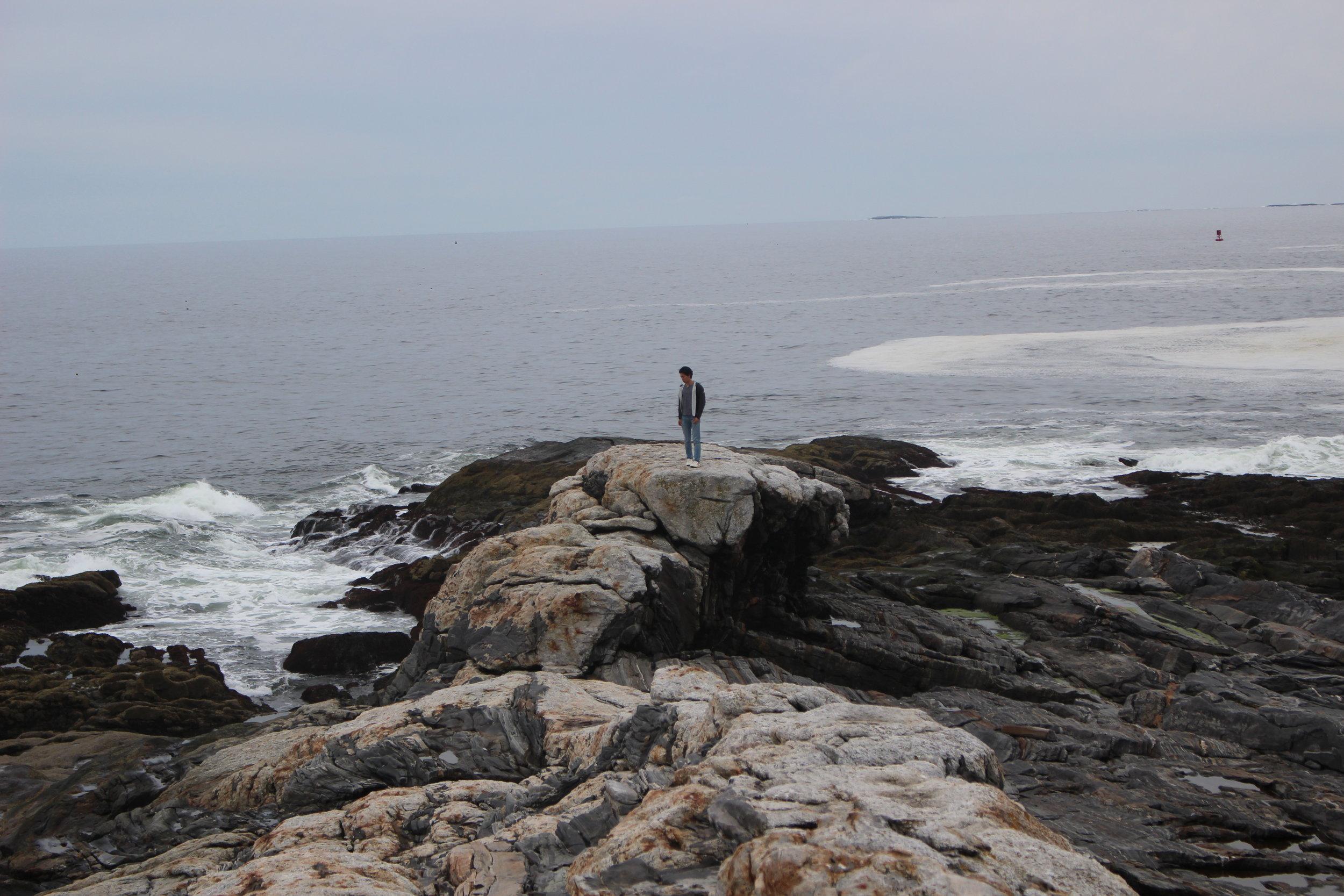 Robert ('20) enjoys the sea breeze