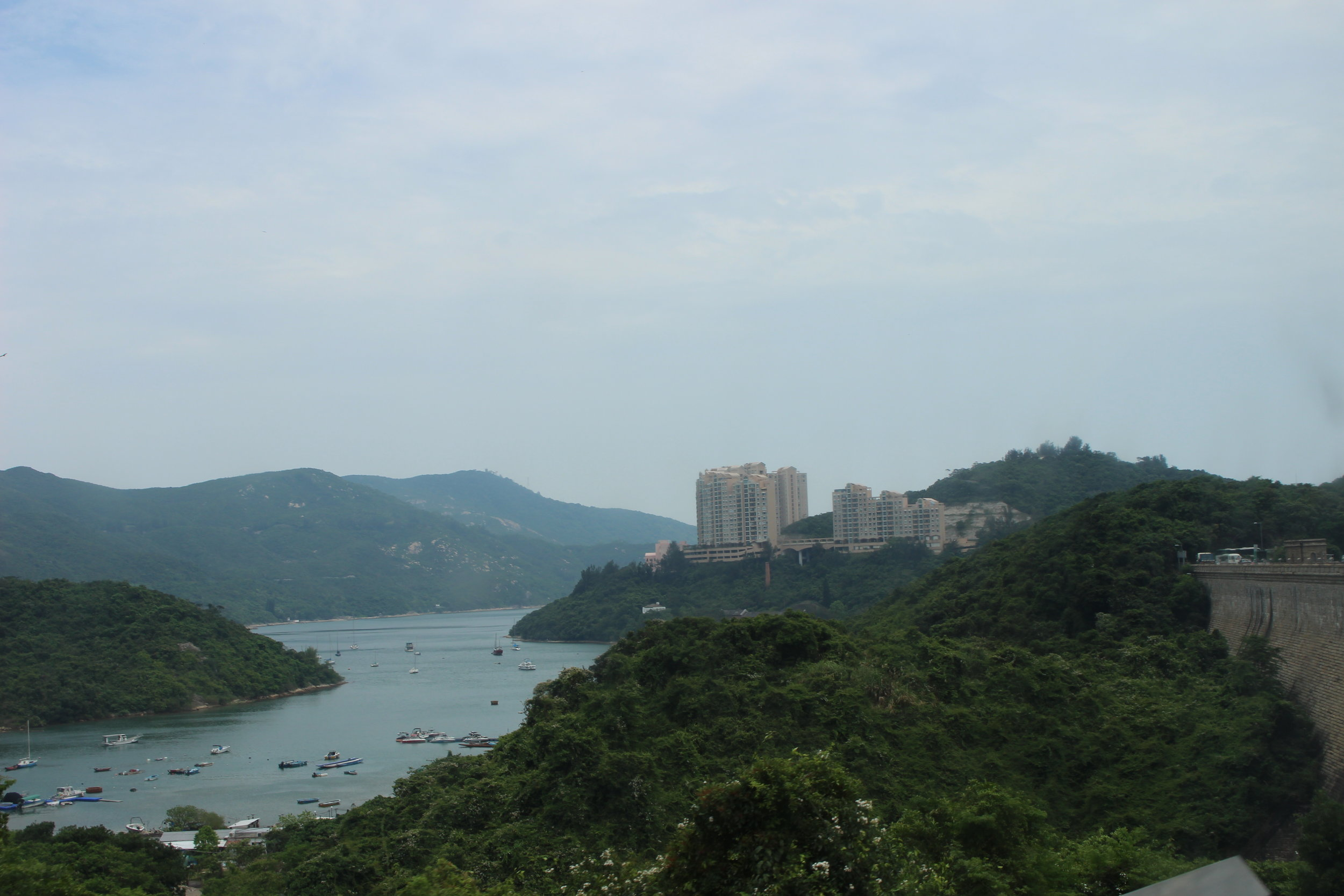 Driving on the outskirts of the city to our show at the Hong Kong International School