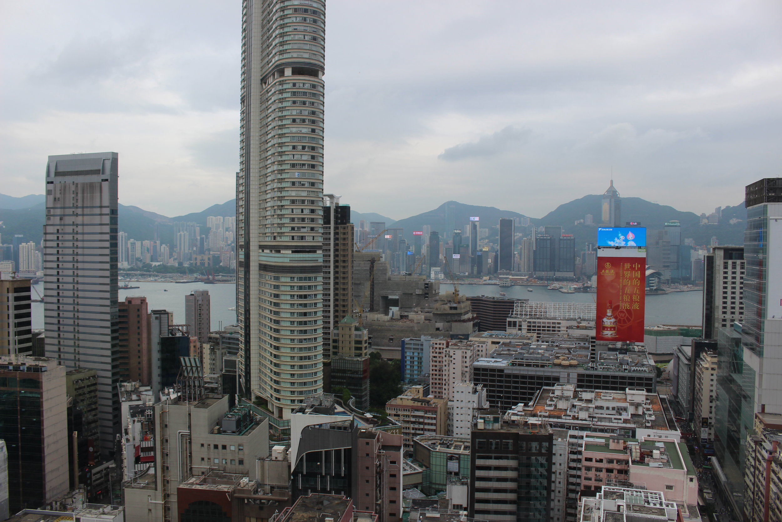 View of the downtown from a shopping mall