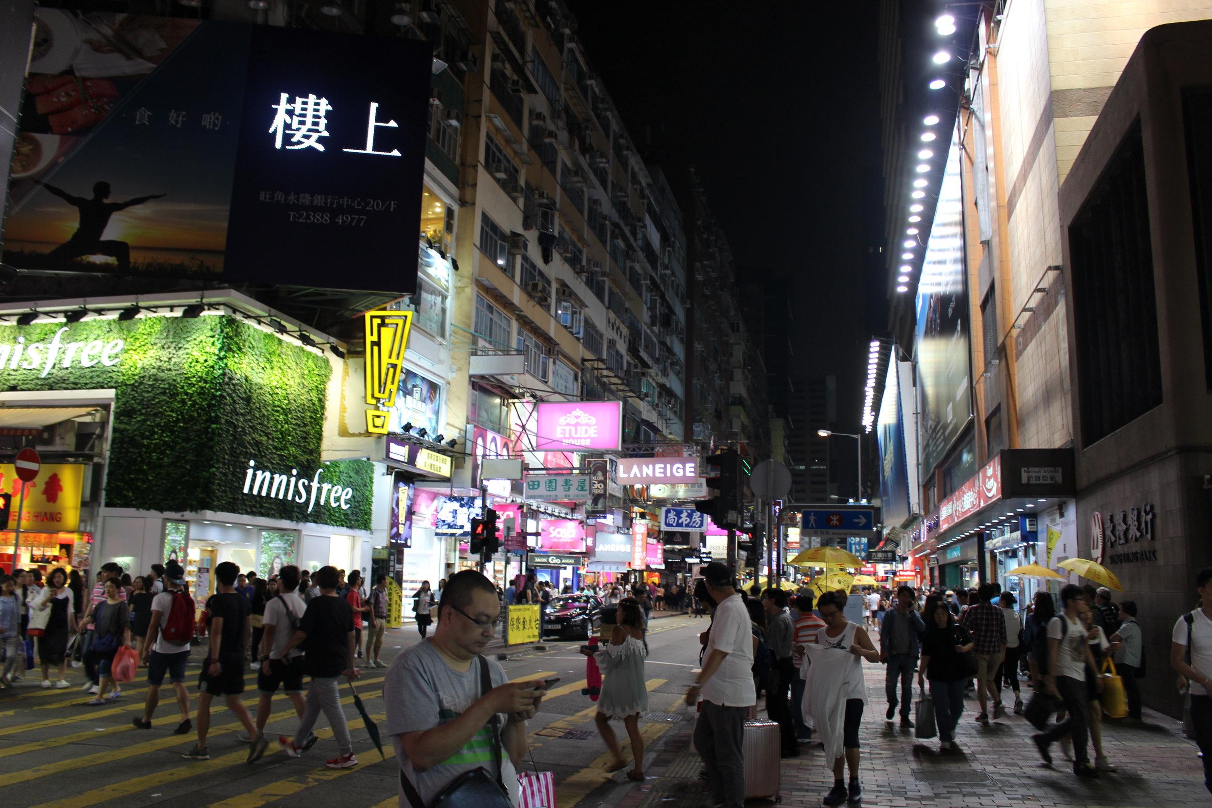 Walking through the downtown